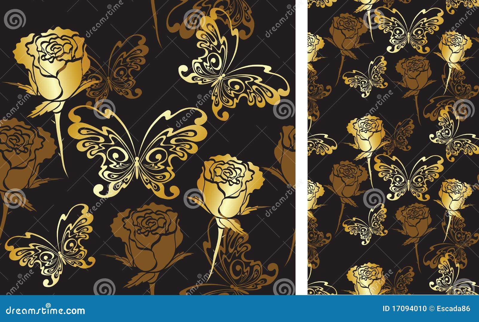 Tła motyli róże