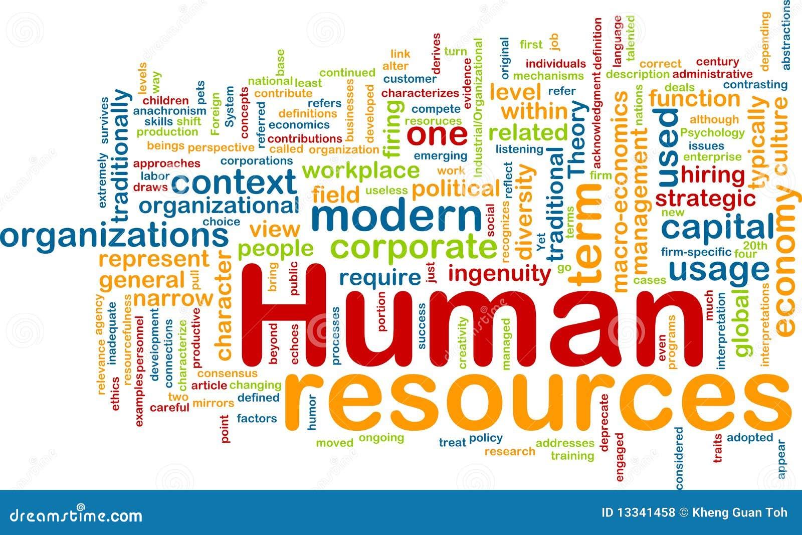 Tła pojęcia dział zasobów ludzkich