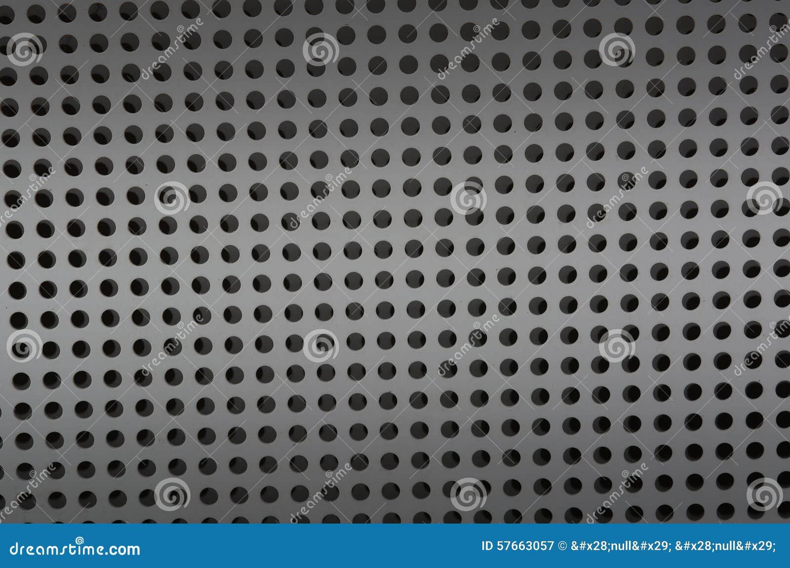 Tła prześcieradło metal zakrywający z liniami kółkowe dziury