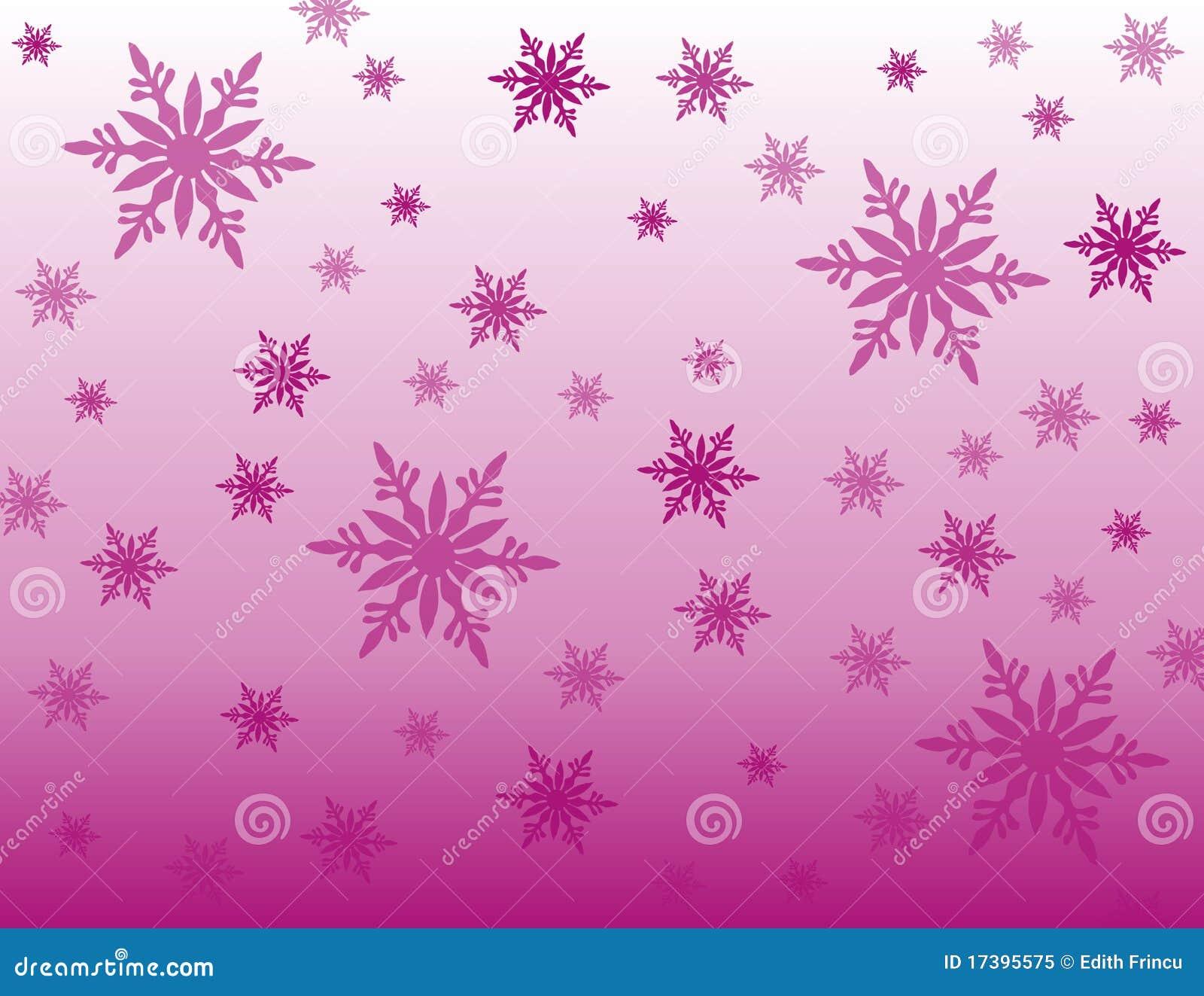 Tła purpur płatek śniegu