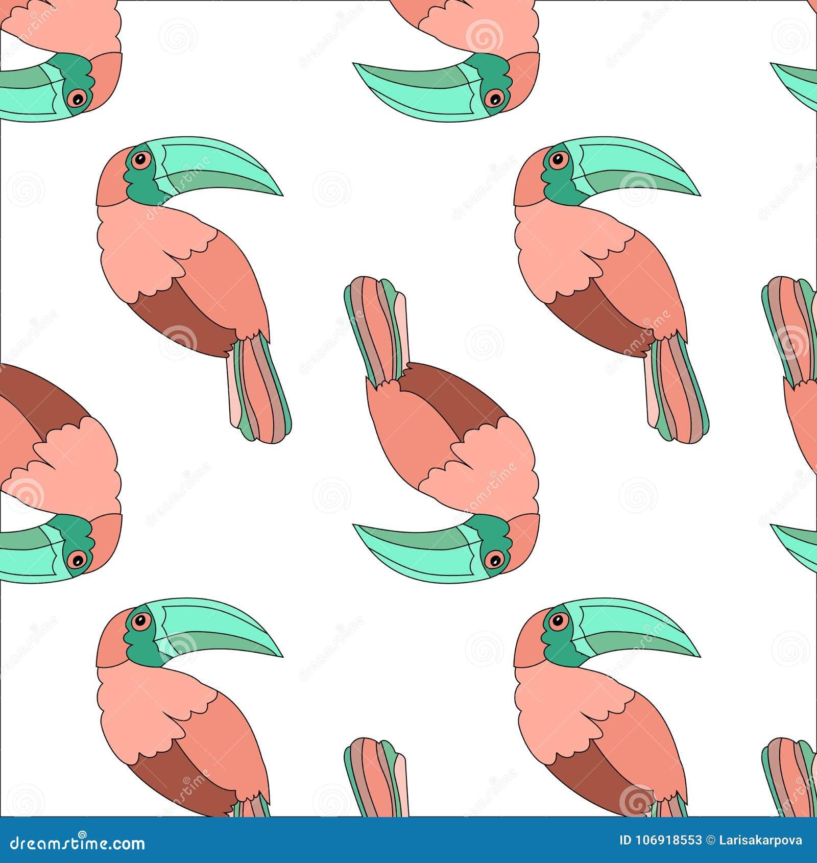 Tła romantyczny kwiecisty kreskówki tęczy pieprzojada ptak