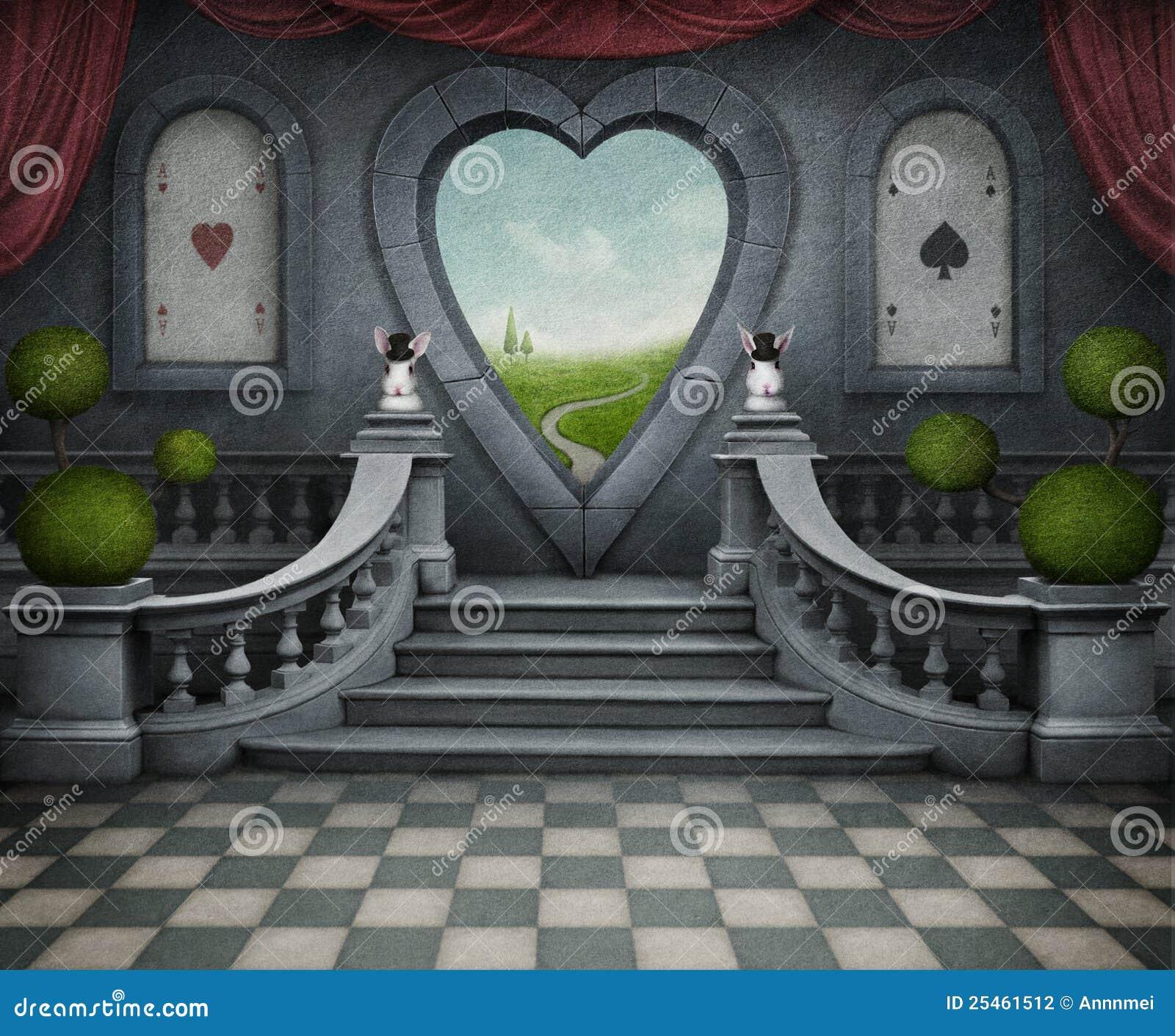 Tła serce drzwiowy fantastyczny