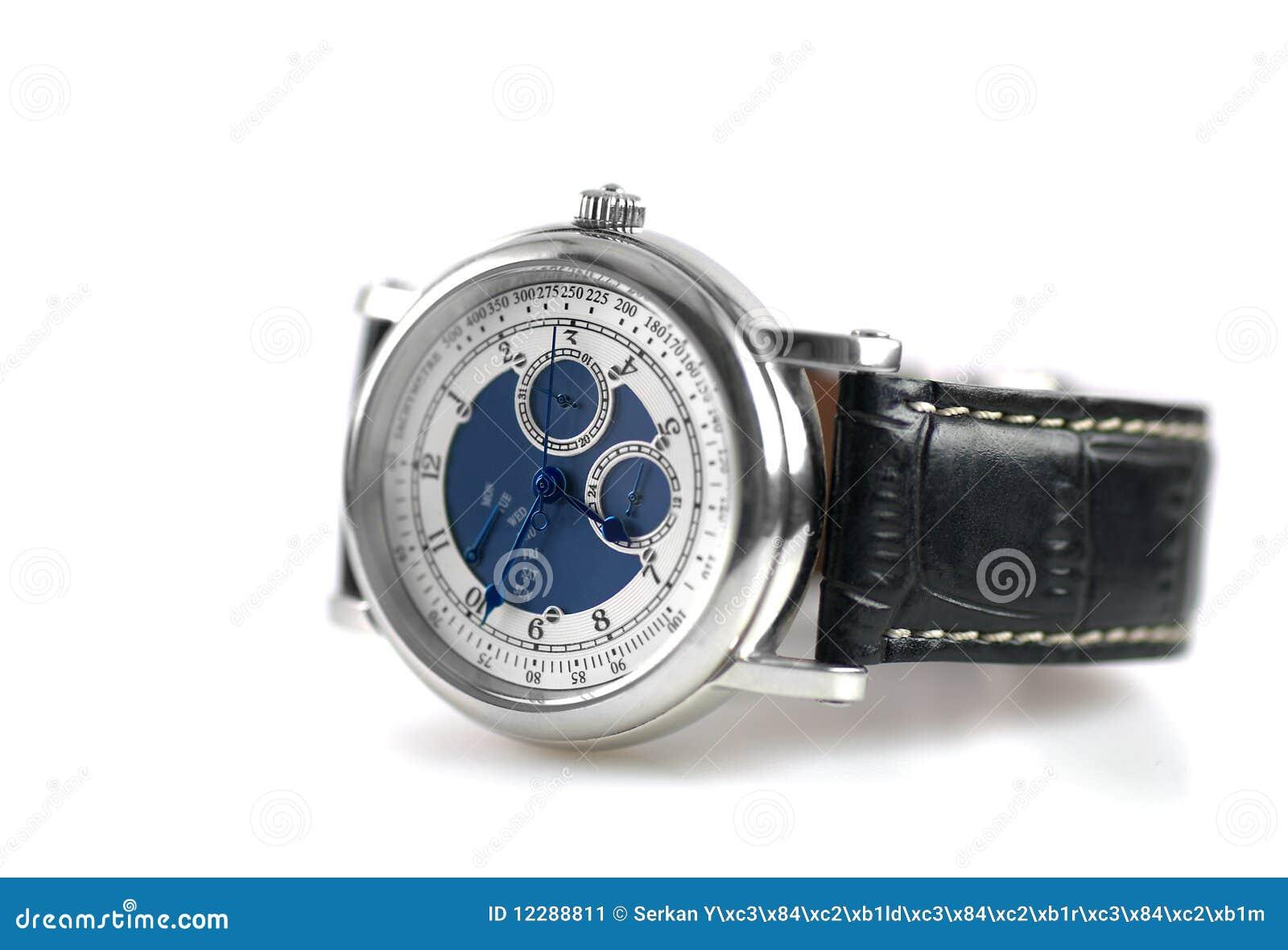 Tła zegarka biel nadgarstek