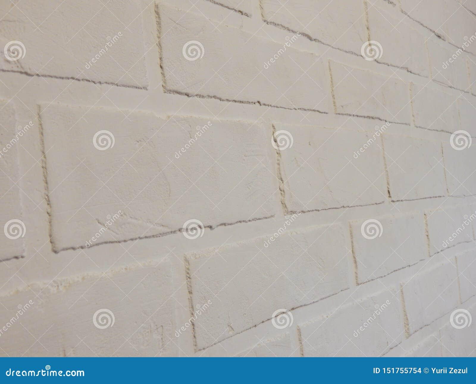 Tło ściana ten biały ceglany tynk