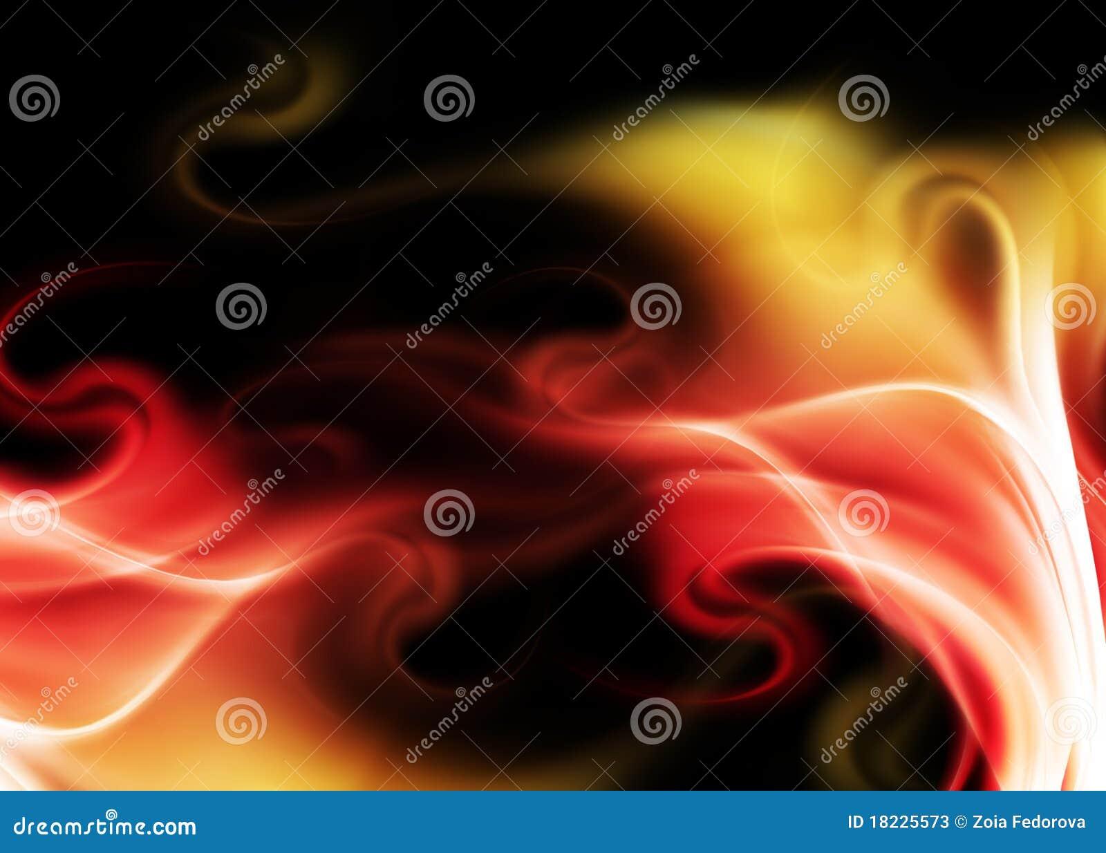 Tło abstrakcjonistyczny ogień