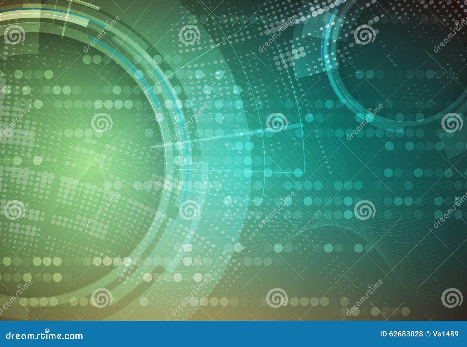 Tło abstrakcyjna technologii Futurystyczny technologia interfejs Vecto