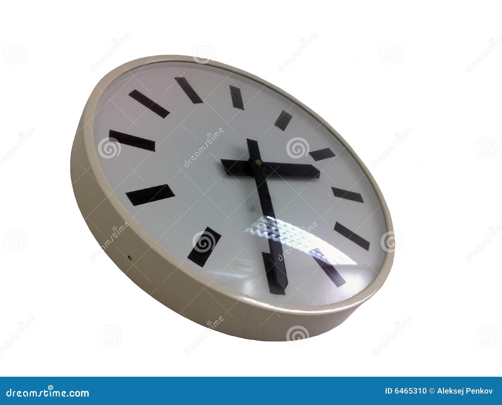 Tło białe ściany zegara