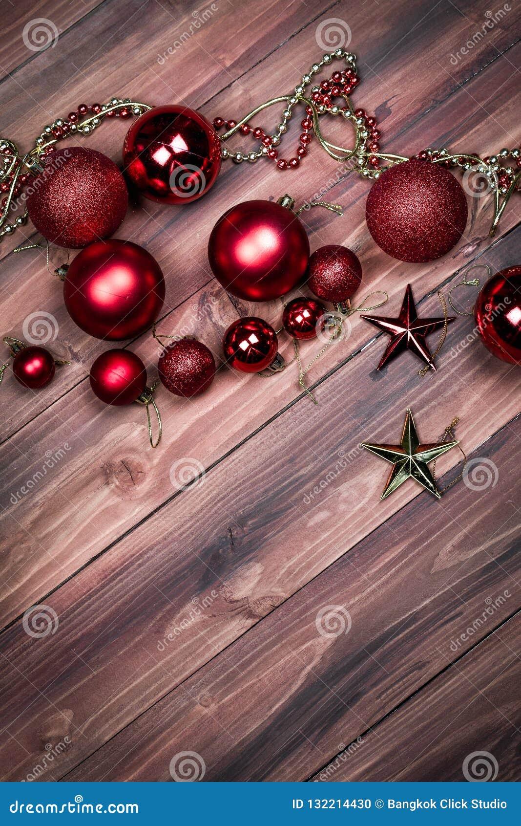 Tło boże narodzenia, nowy rok ornamenty, gwiazdy i koraliki,