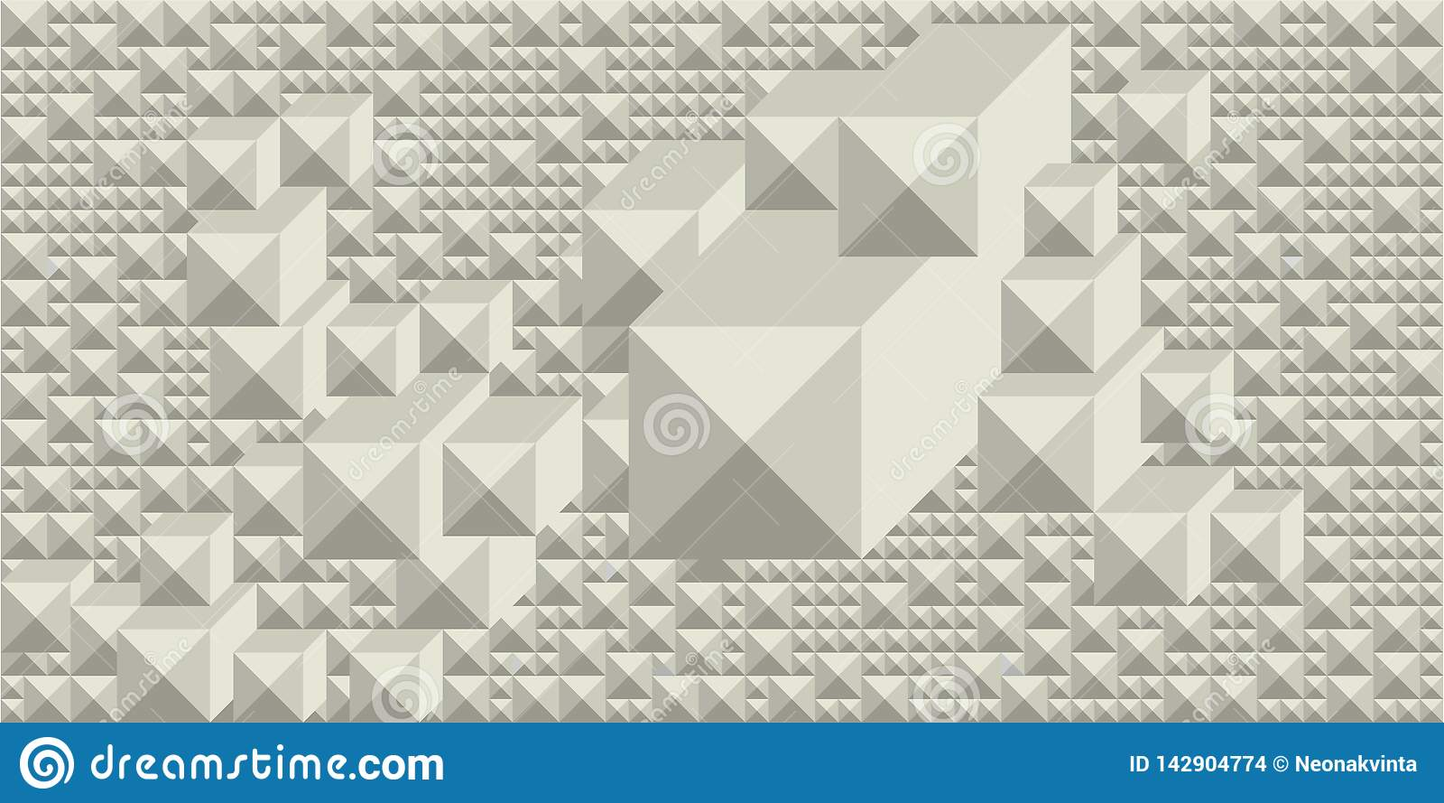 Tło cienie biel w postaci prostokątnej graficznej geometrycznej wolumetrycznej mozaiki