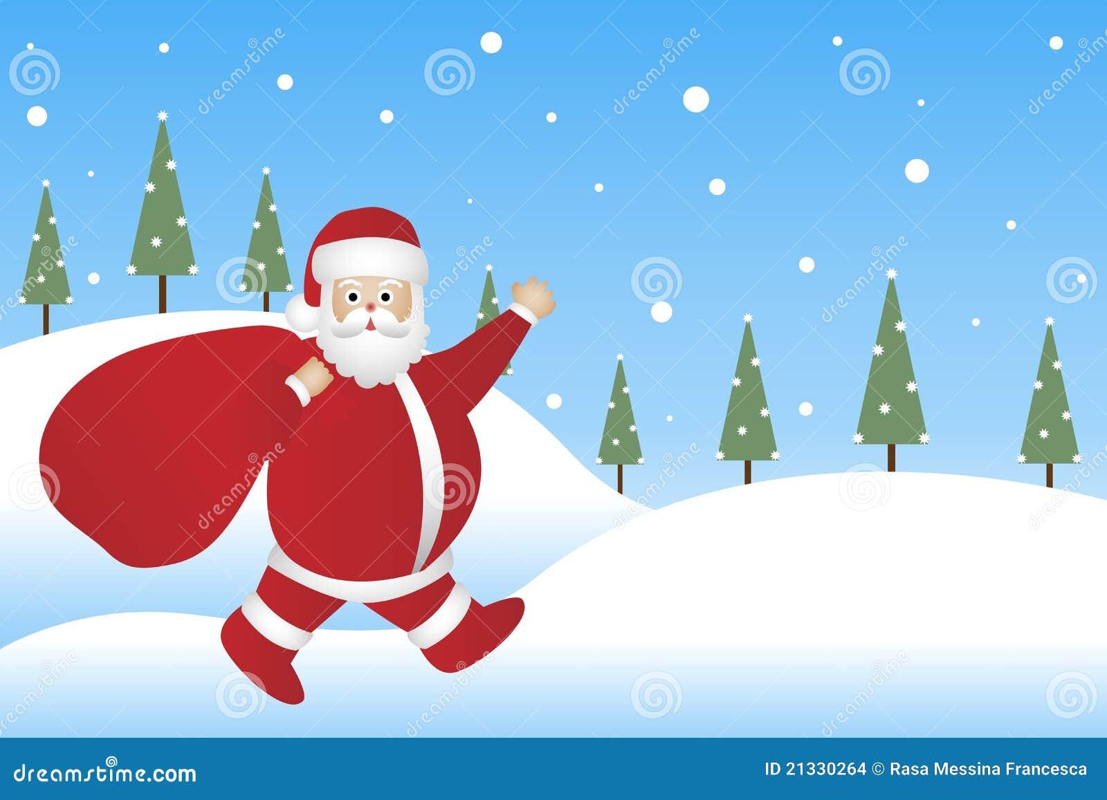 Tło Claus Santa