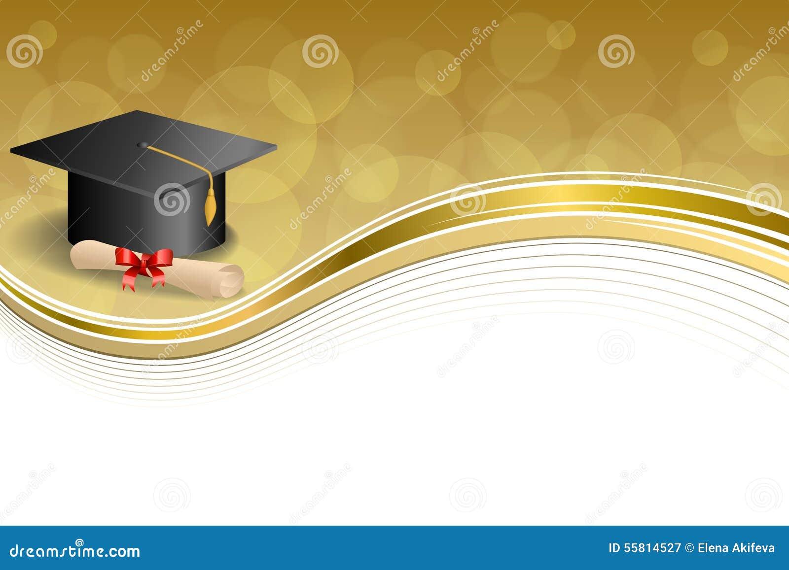 Tło edukaci skalowania nakrętki abstrakcjonistycznego beżowego dyplomu łęku złota ramy czerwona ilustracja