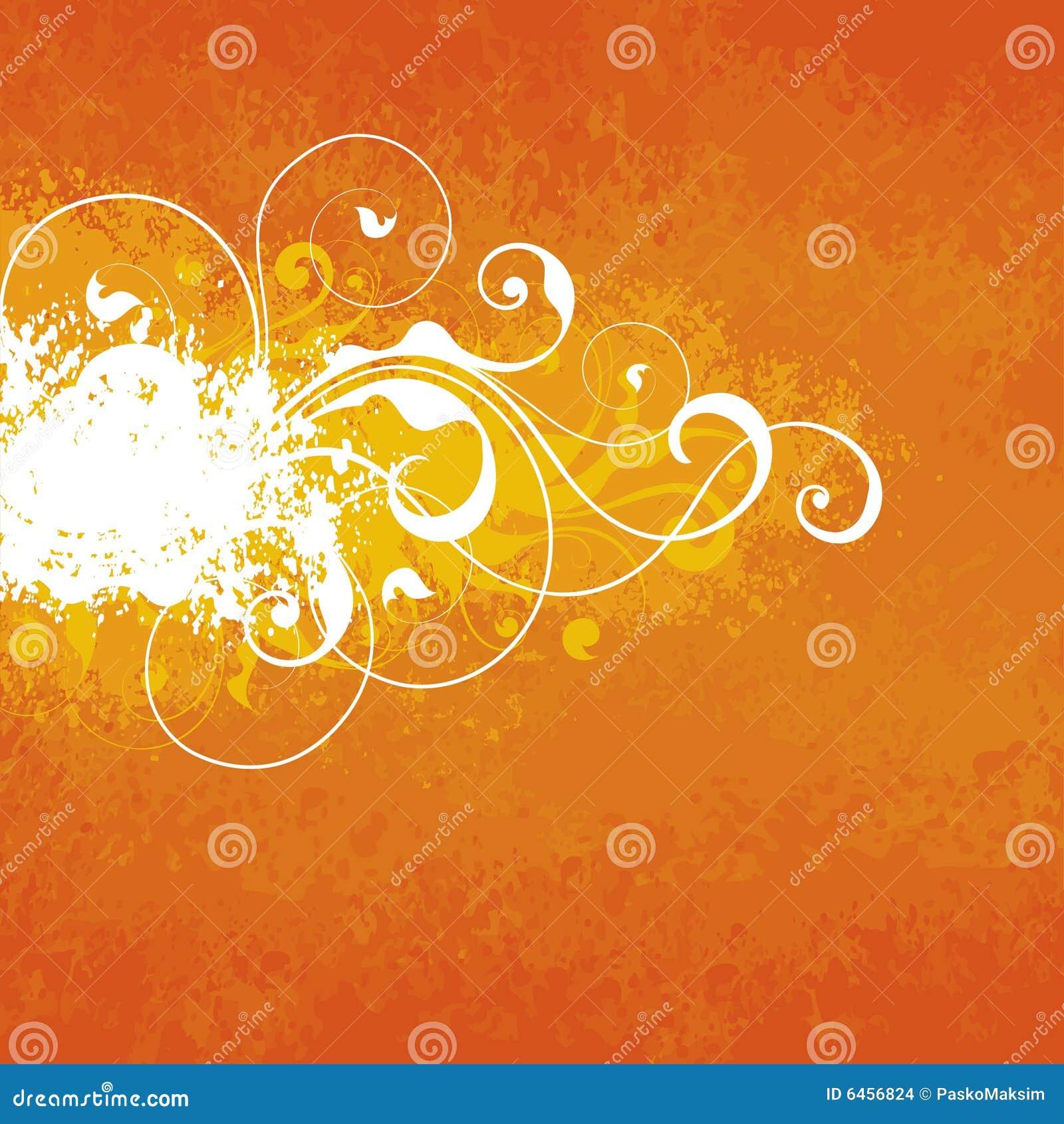 Tło kwiecista pomarańcze