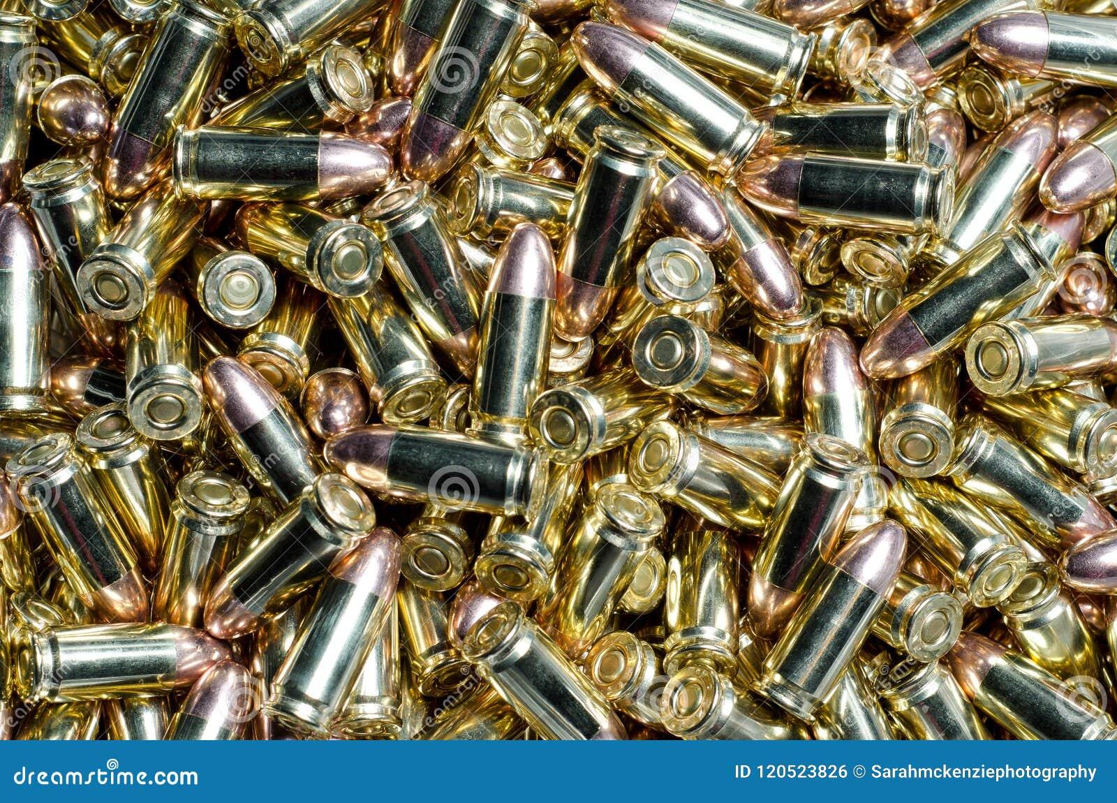 Tło 9mm pociski rozbebeszający wpólnie