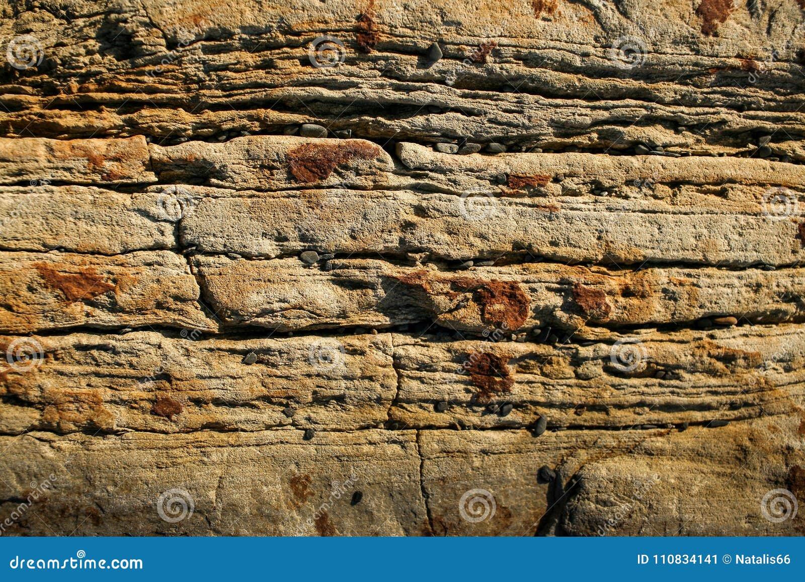 Tło naturalnego kamienia Zakończenie ściana ryży płatowaty góra łupek