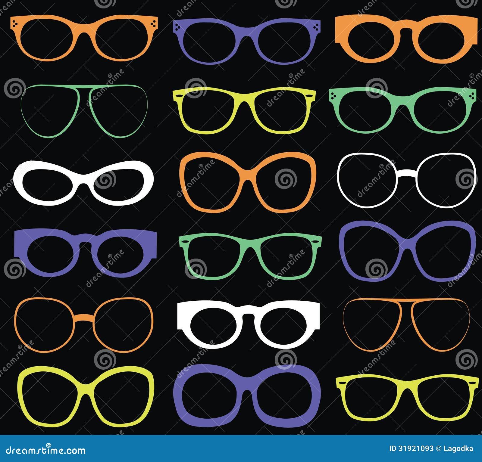 Tło od kolorowych okularów przeciwsłonecznych