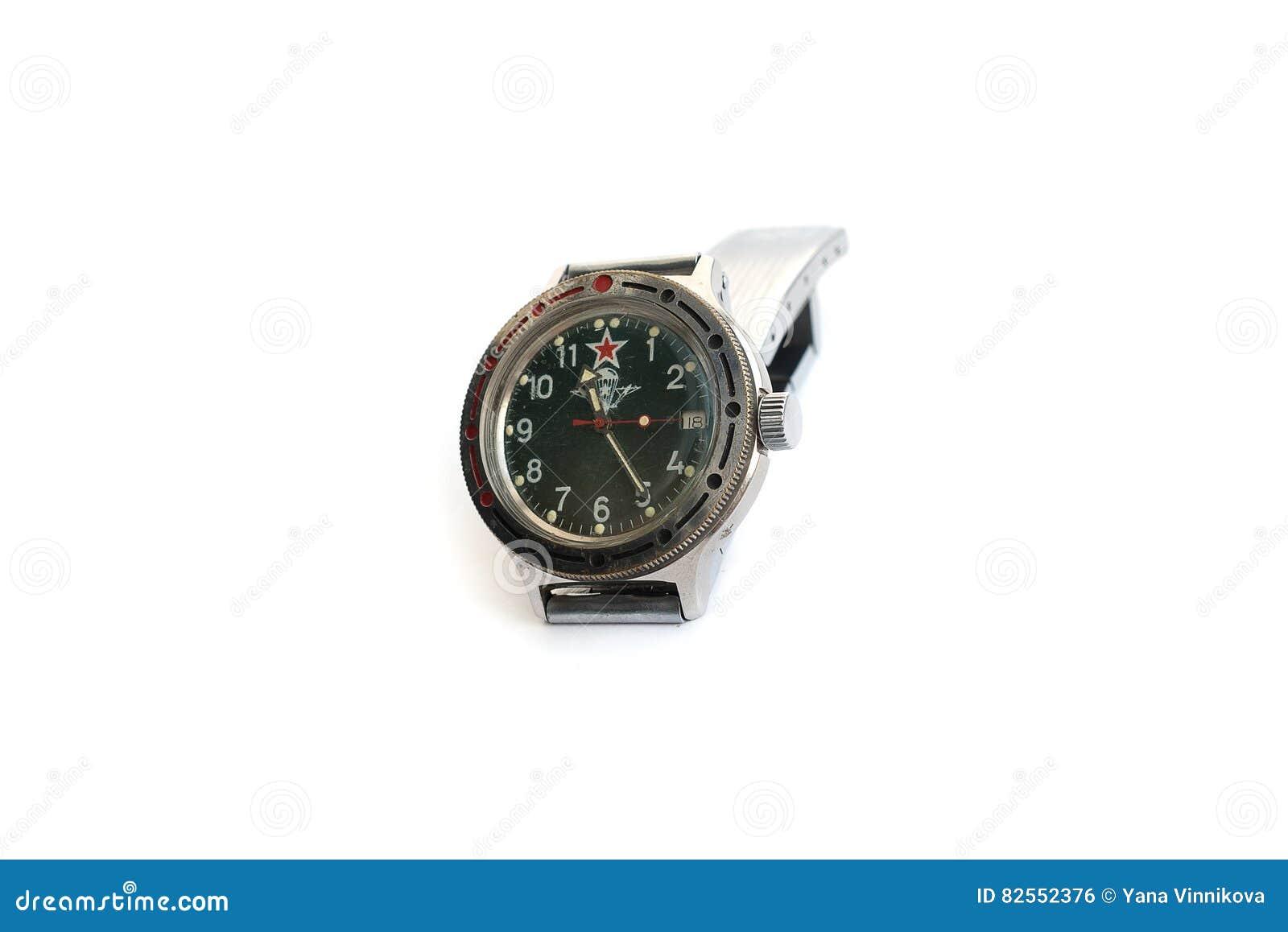 Tło odizolowywający zegarka biel nadgarstek