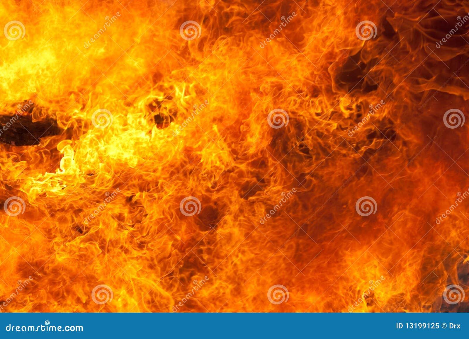 Tło ogień