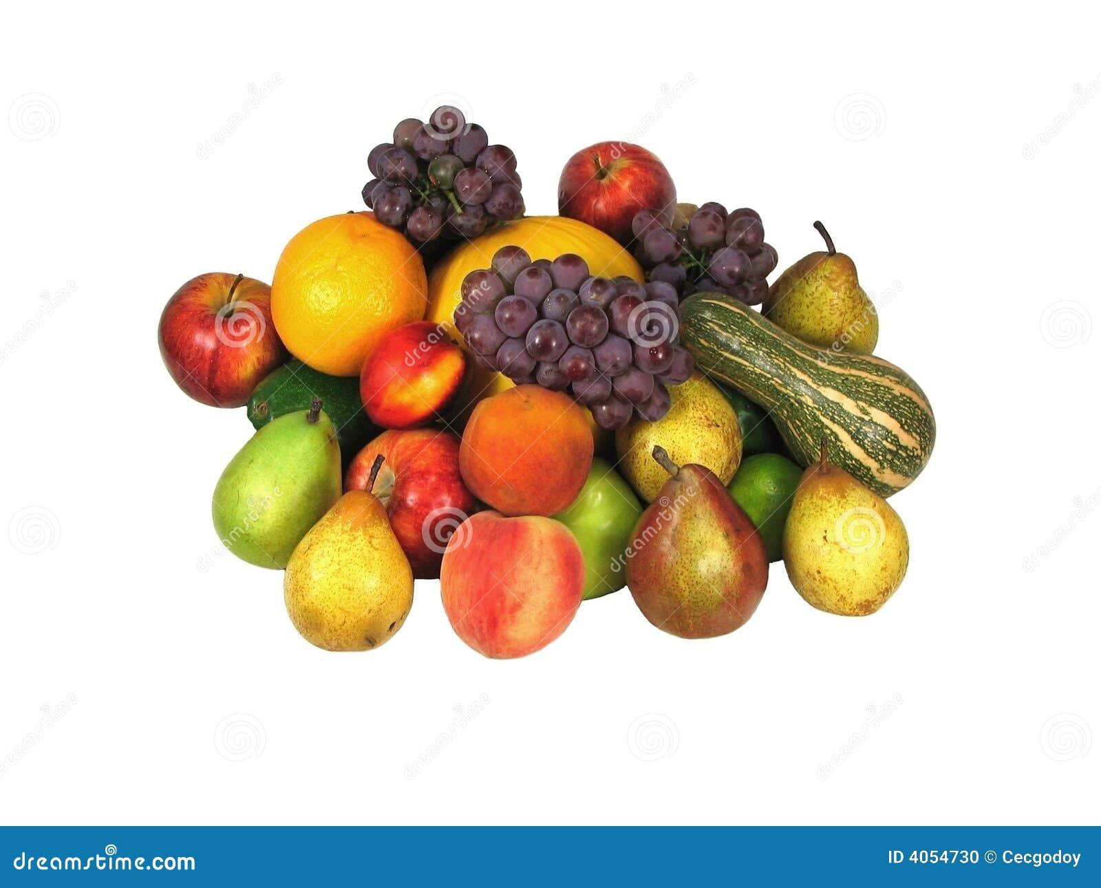 Tło owoców przez jakiś biały