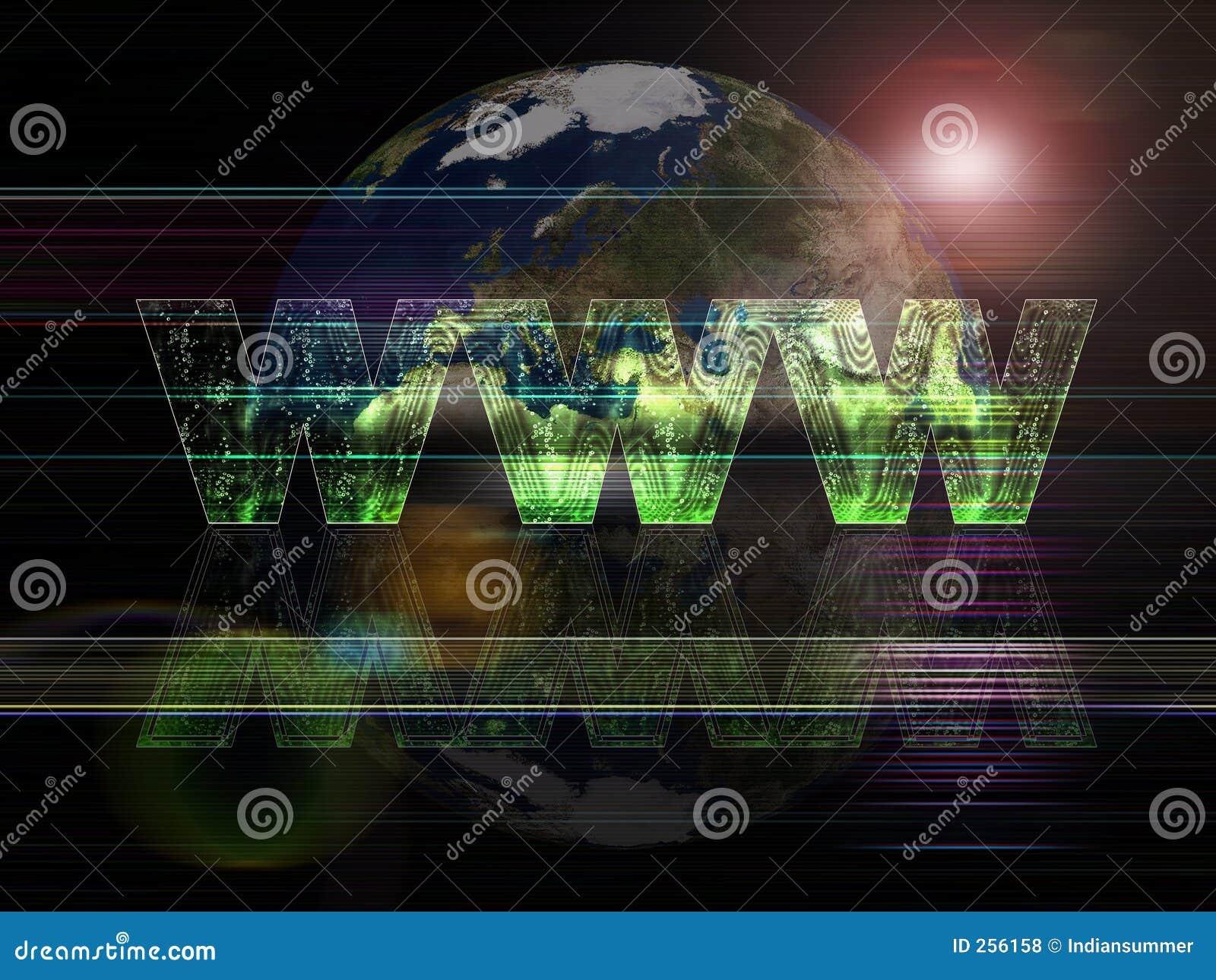 Tło serii globalnej sieci szeroki świat