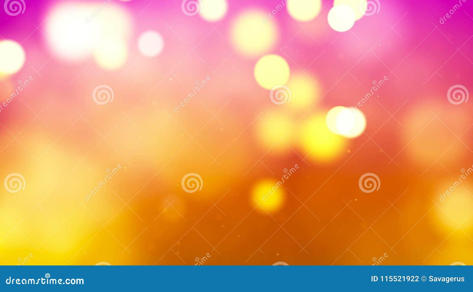 Tło z ładnym abstrakcjonistycznym złotym bokeh