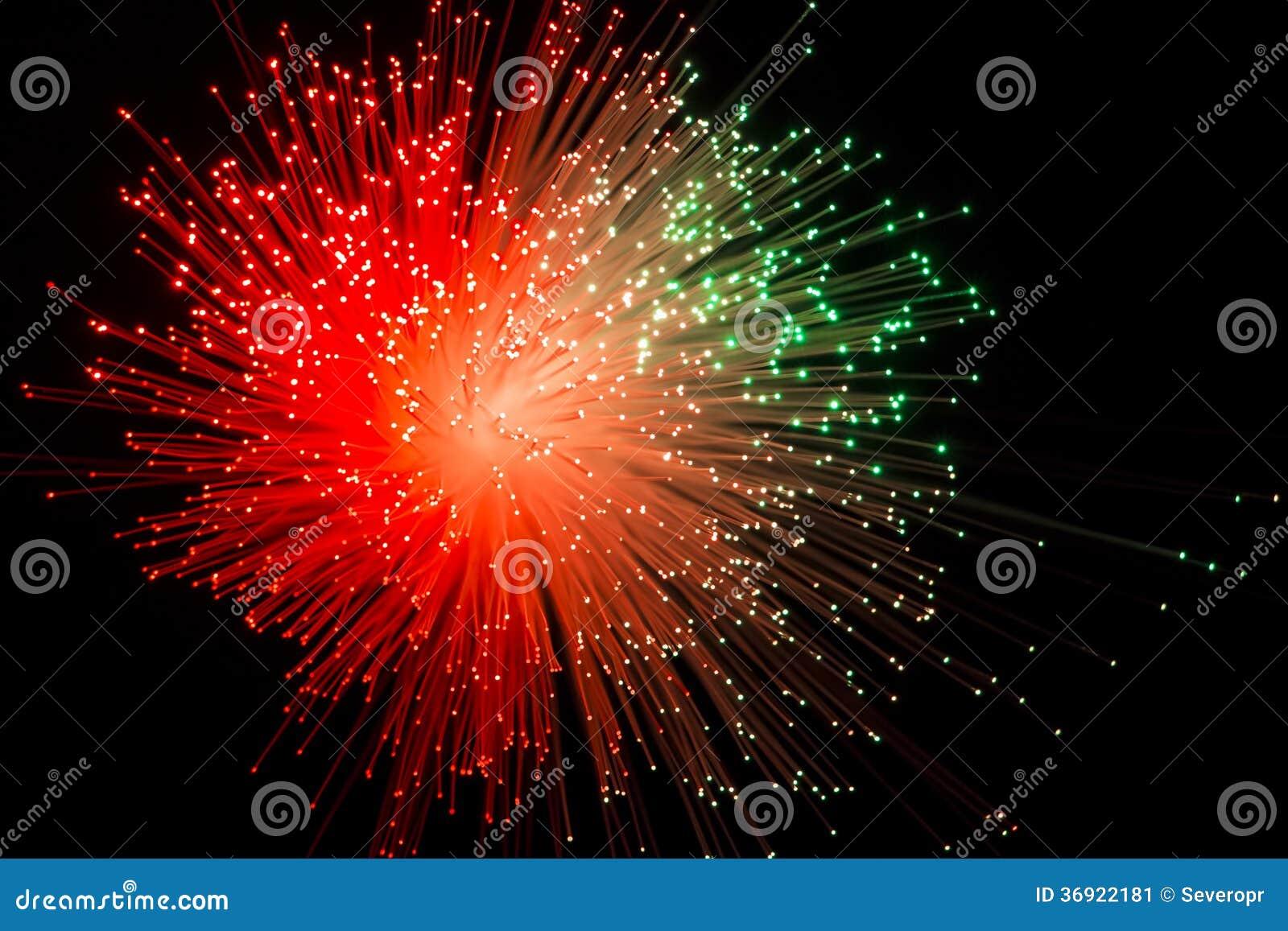 Tło z czerwonym promienia wybuchem
