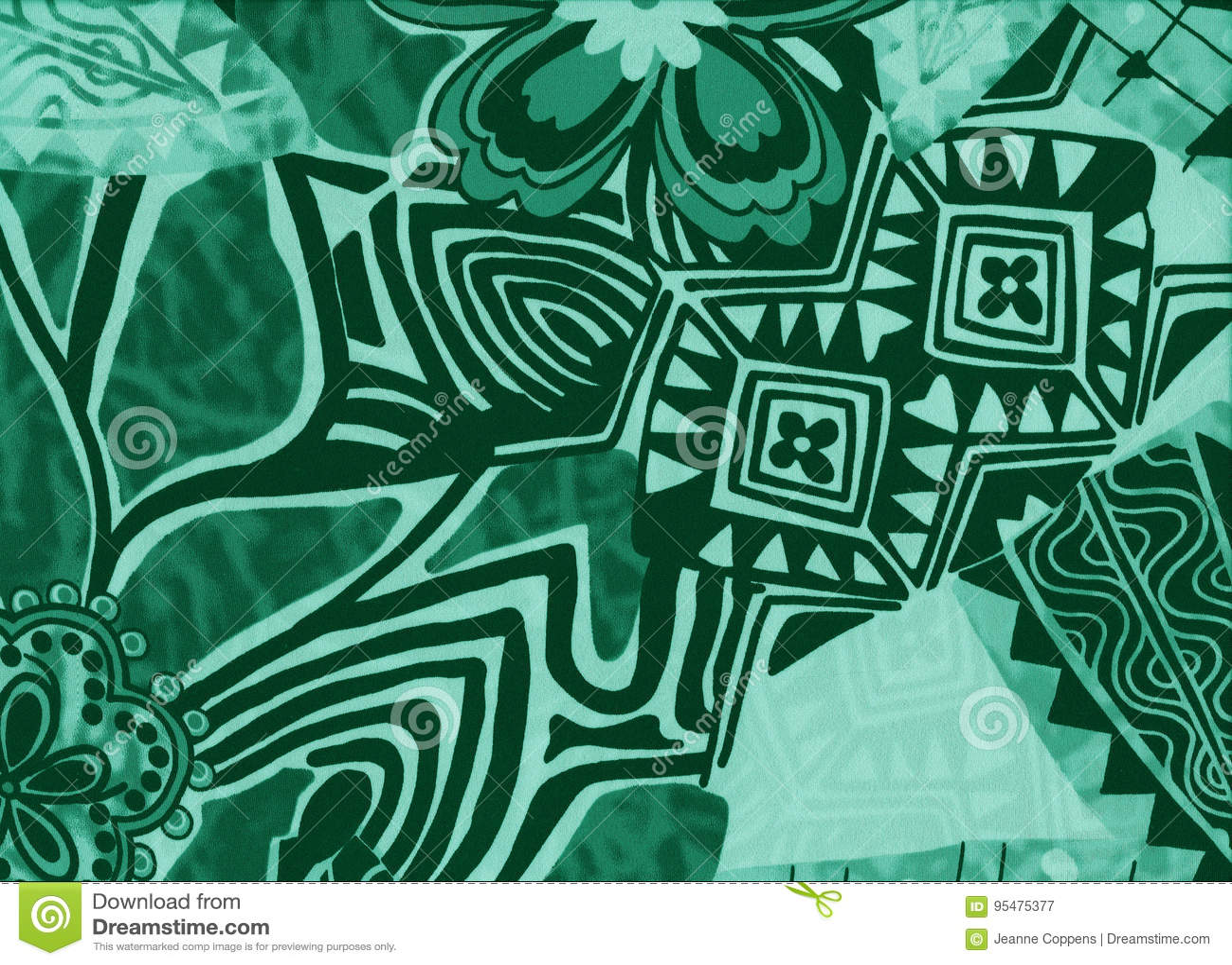 Tło z kwiatami i abstrakcjonistycznymi geometrycznymi kształtami