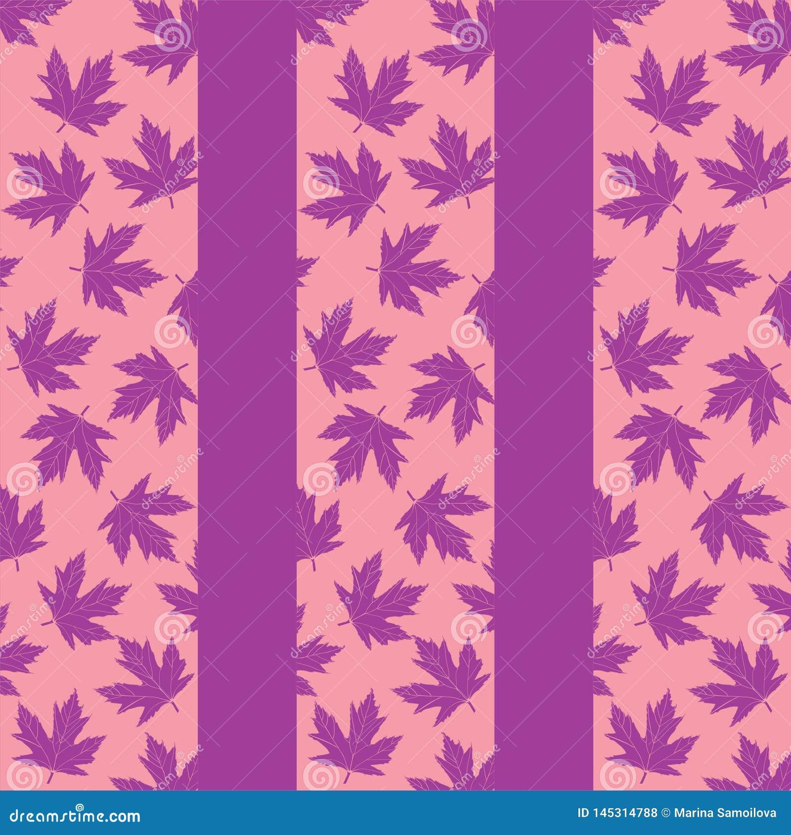 Tło z lilymi liśćmi klonowymi