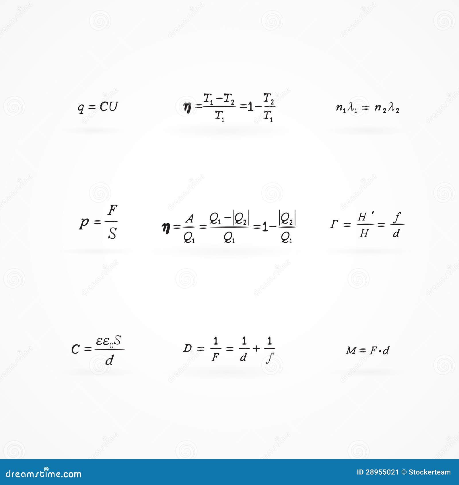 Tło z równaniami i formułami