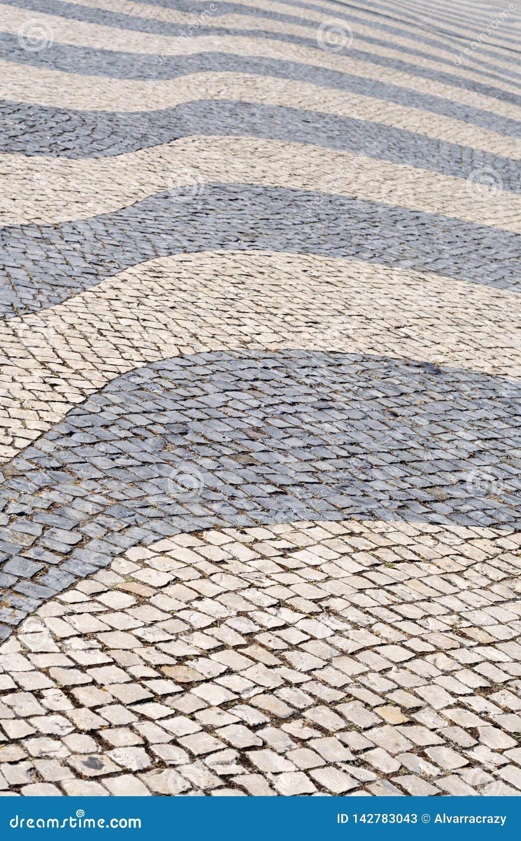 Tło z tradycyjną Portugal techniką bruk