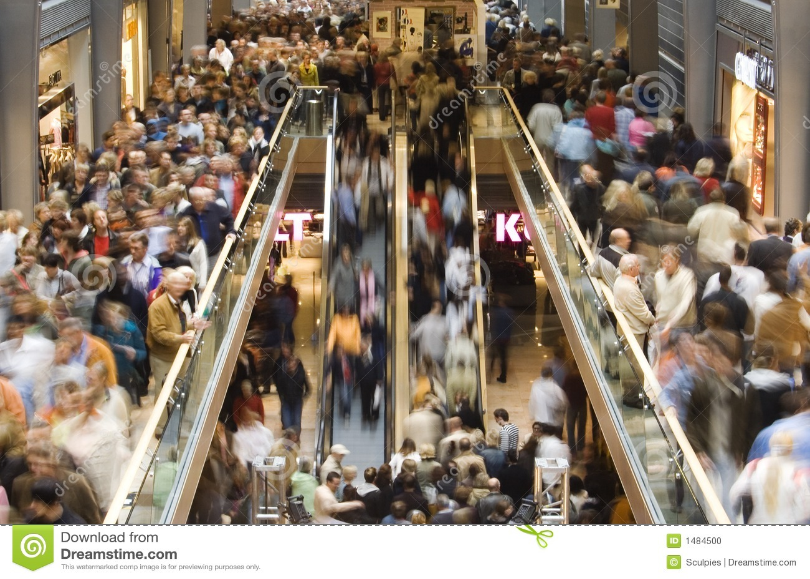 Tłum na zakupy