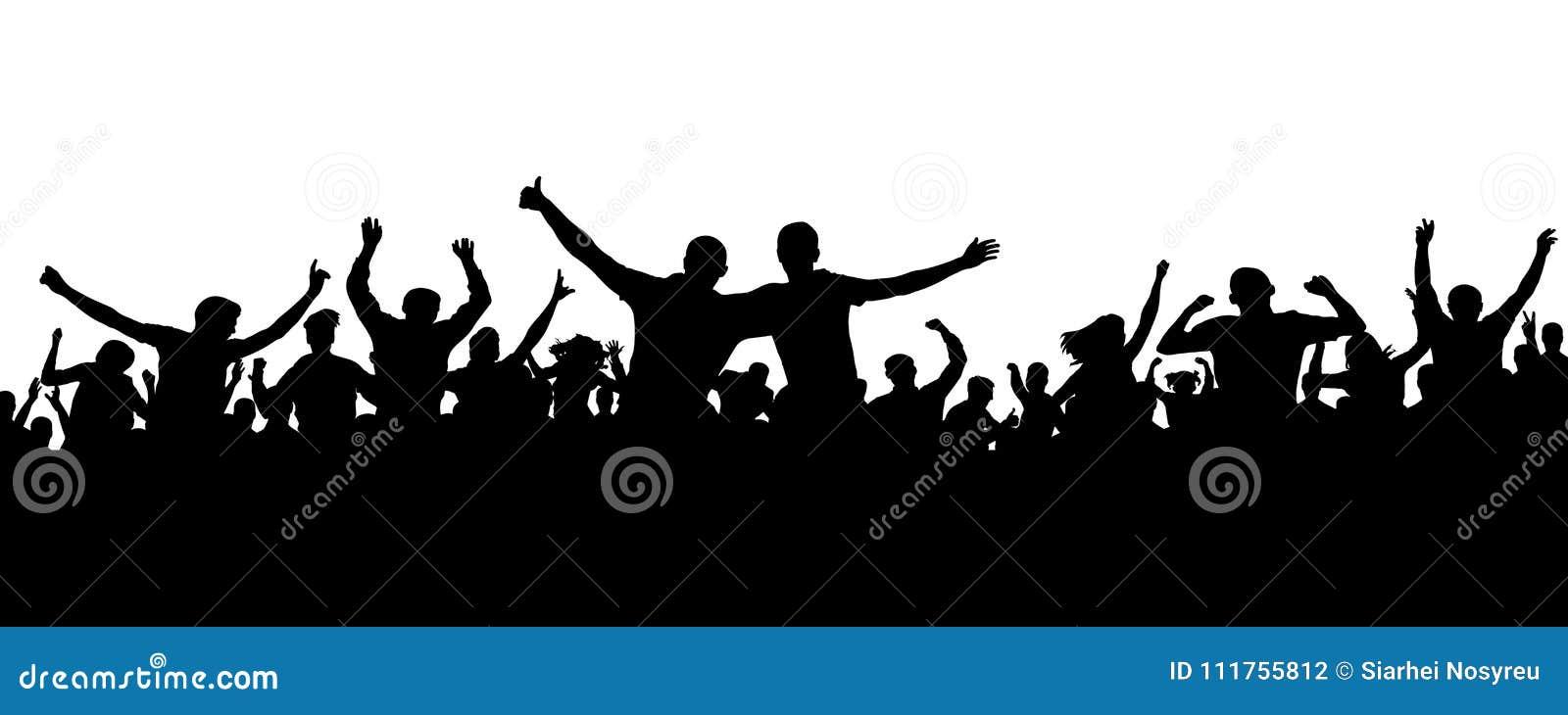 Tłum sylwetki rozochoceni ludzie Radosny motłoch Szczęśliwi grupowi przyjaciele młodzi ludzie tanczy przy musicalu przyjęciem, ko