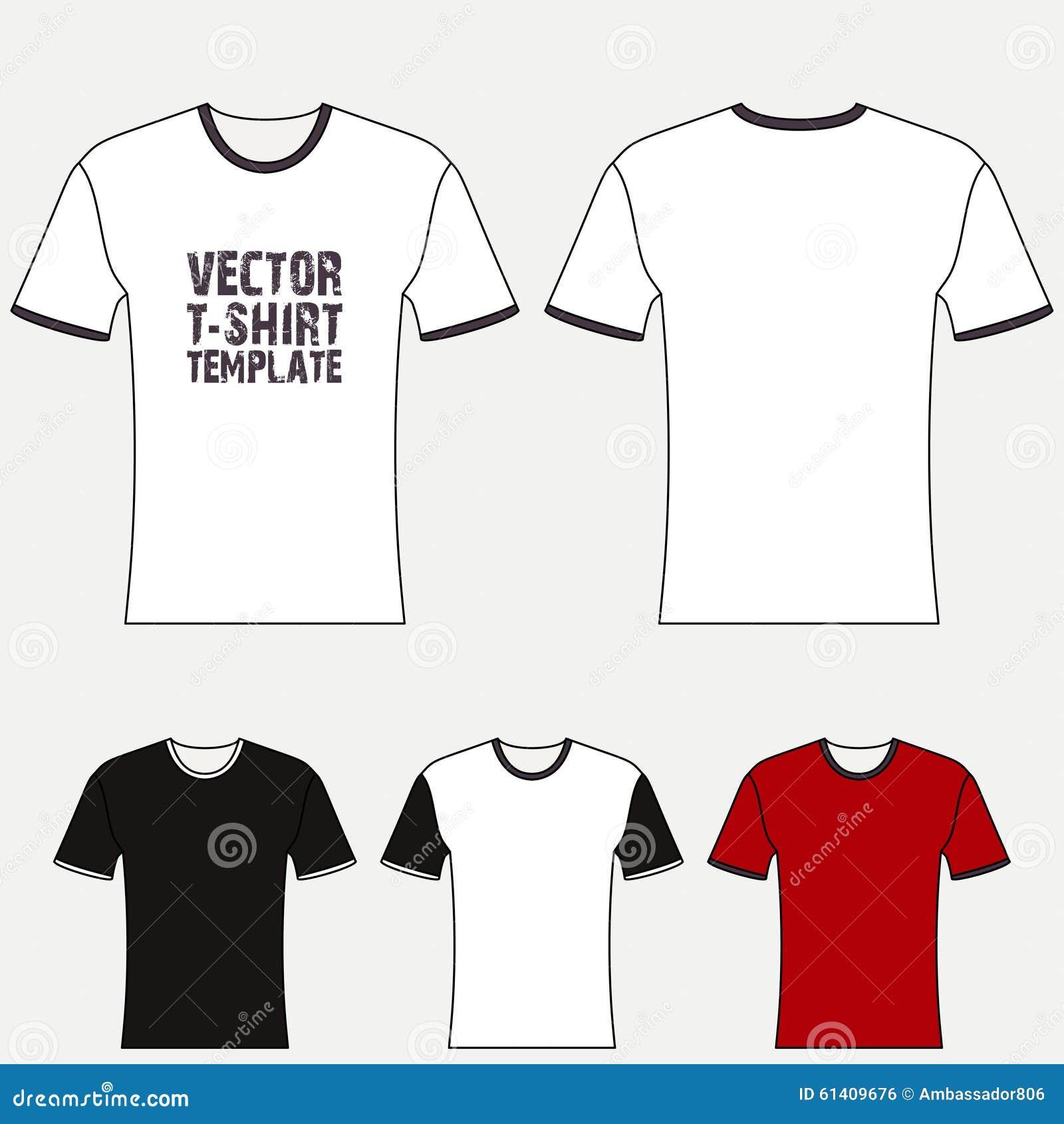 空白t恤设计图_t恤杉空白设计模板