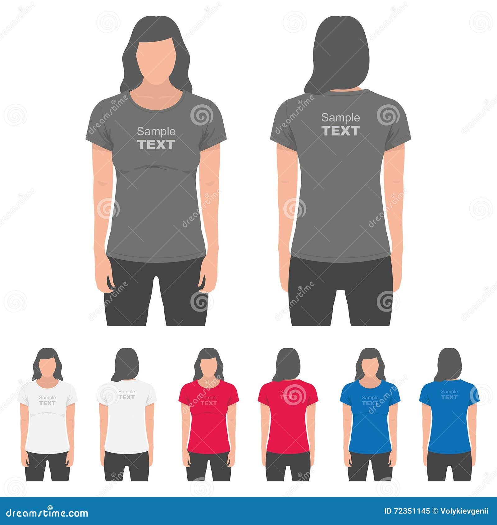 妇女T恤杉设计模板