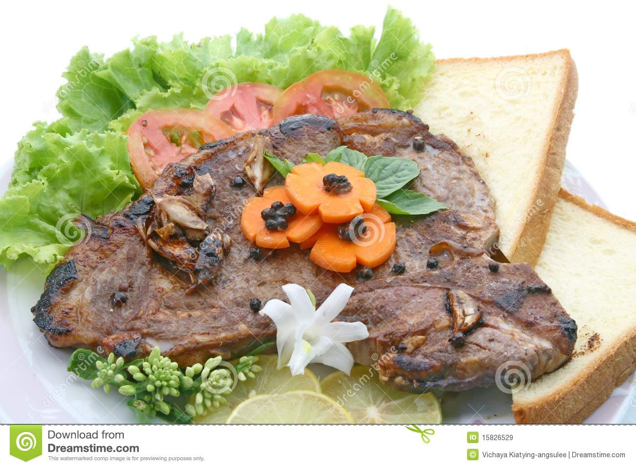 Bone Pepper Steak With Vegetable Royalty Free Stock Images - Image ...