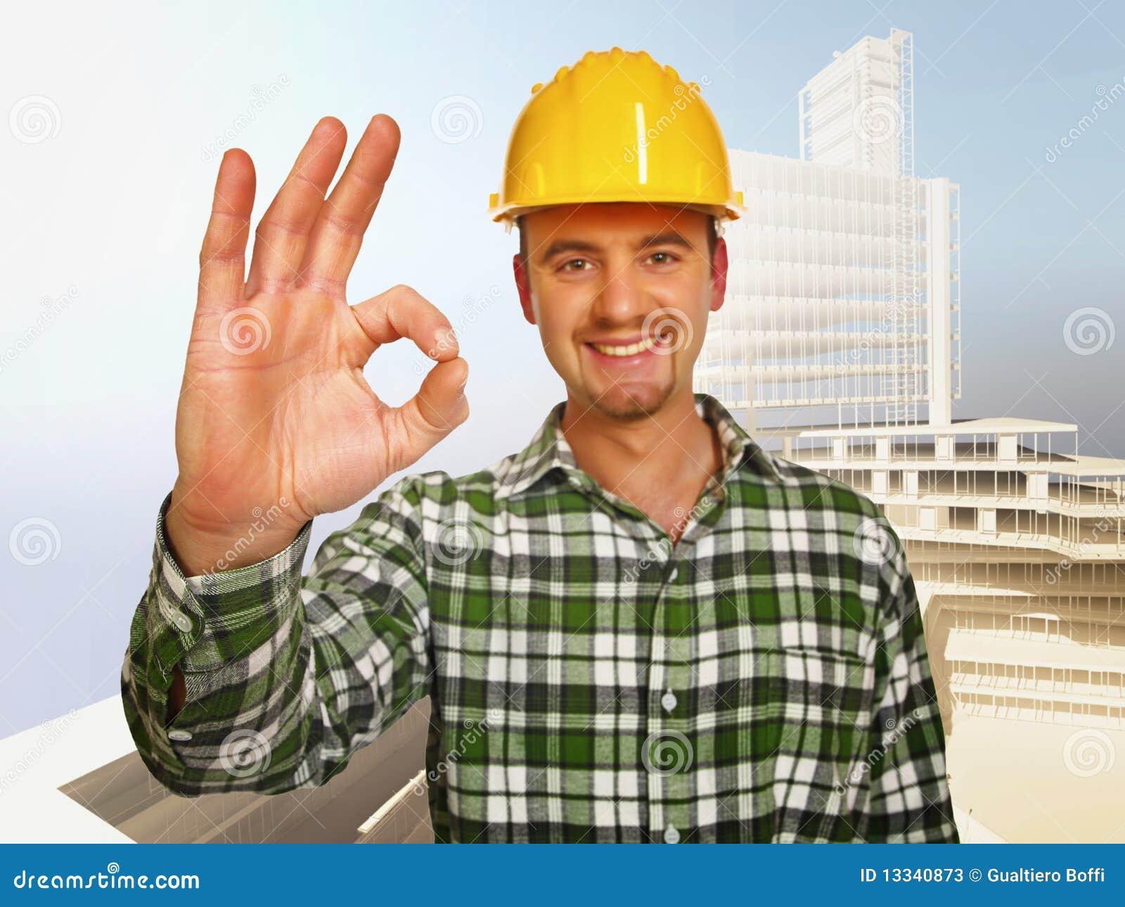 Tła constructione pracownik