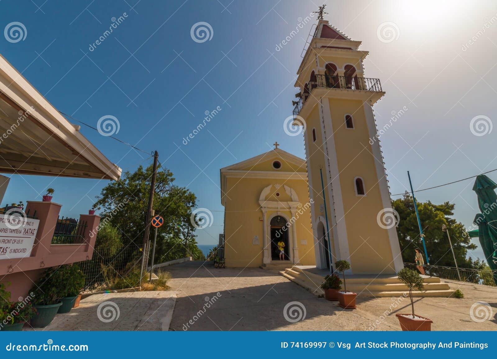 T Kirche An Bochali Bereich Von Zakynthos Insel In Griechenland