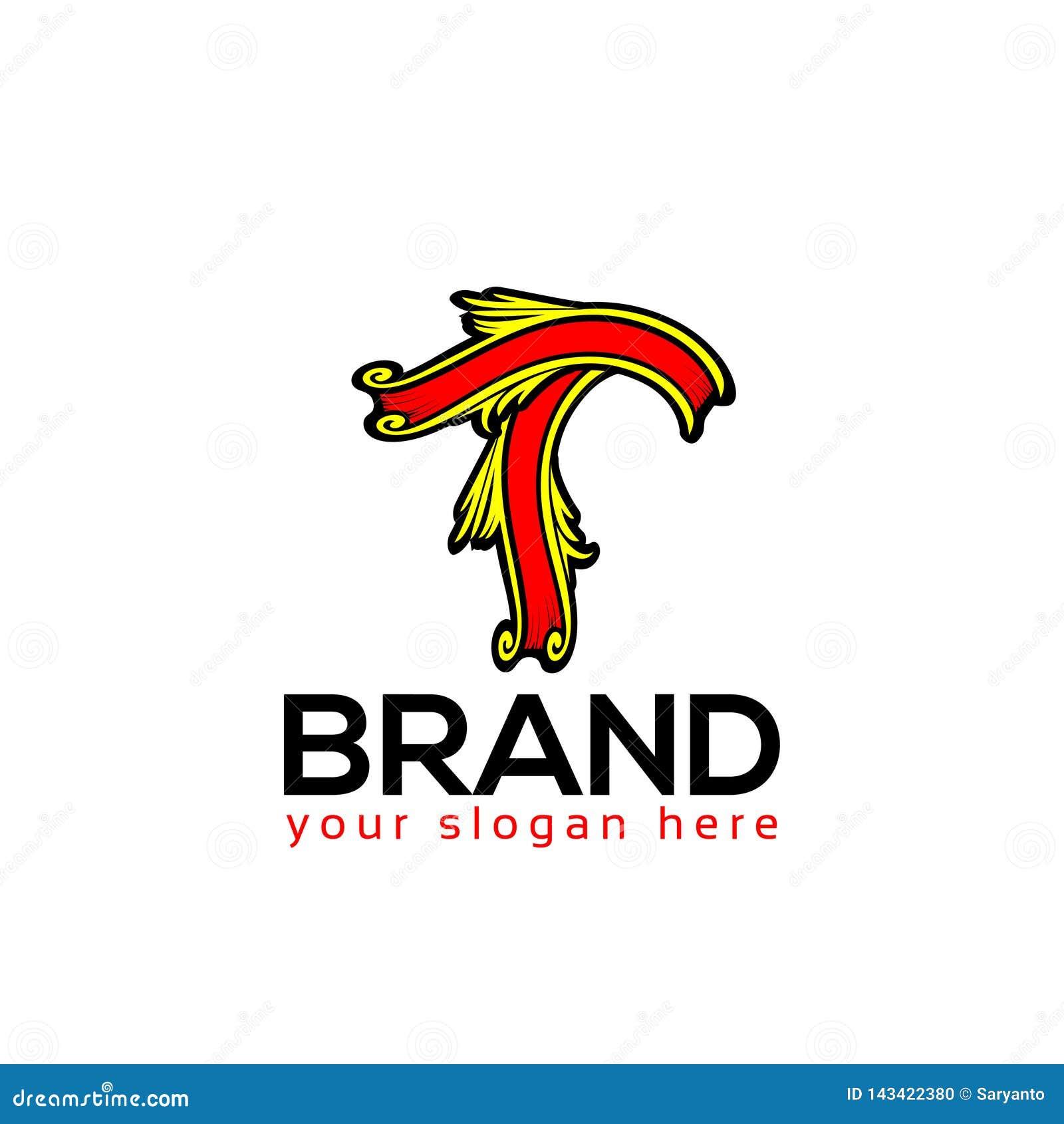 Letter T, T letter logo. Flat logo design.