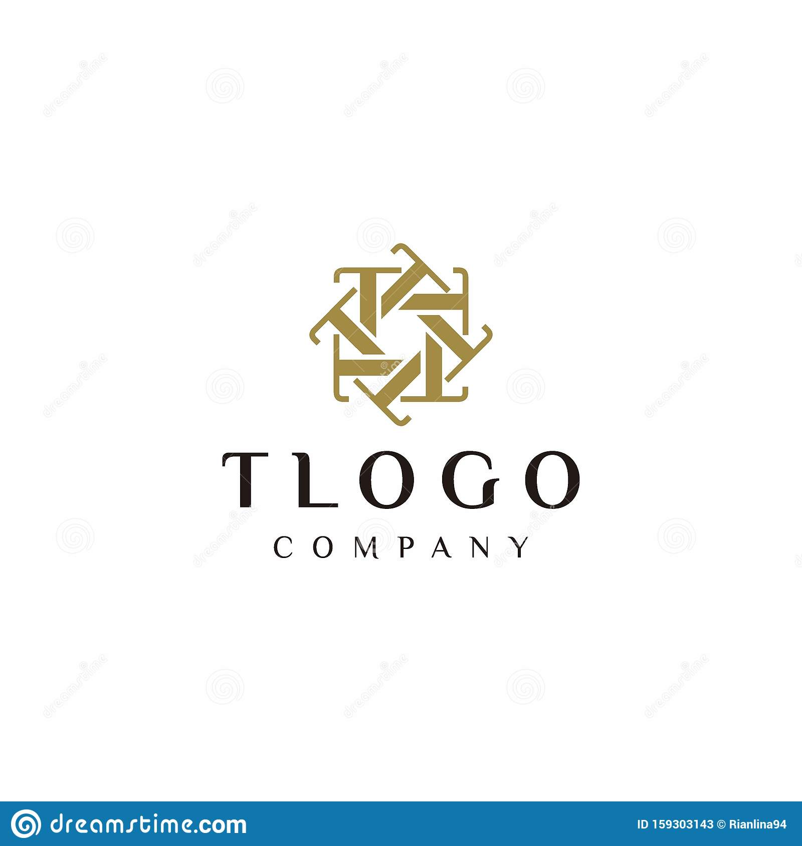 T Logo Letter Monogram Design Stock Vector