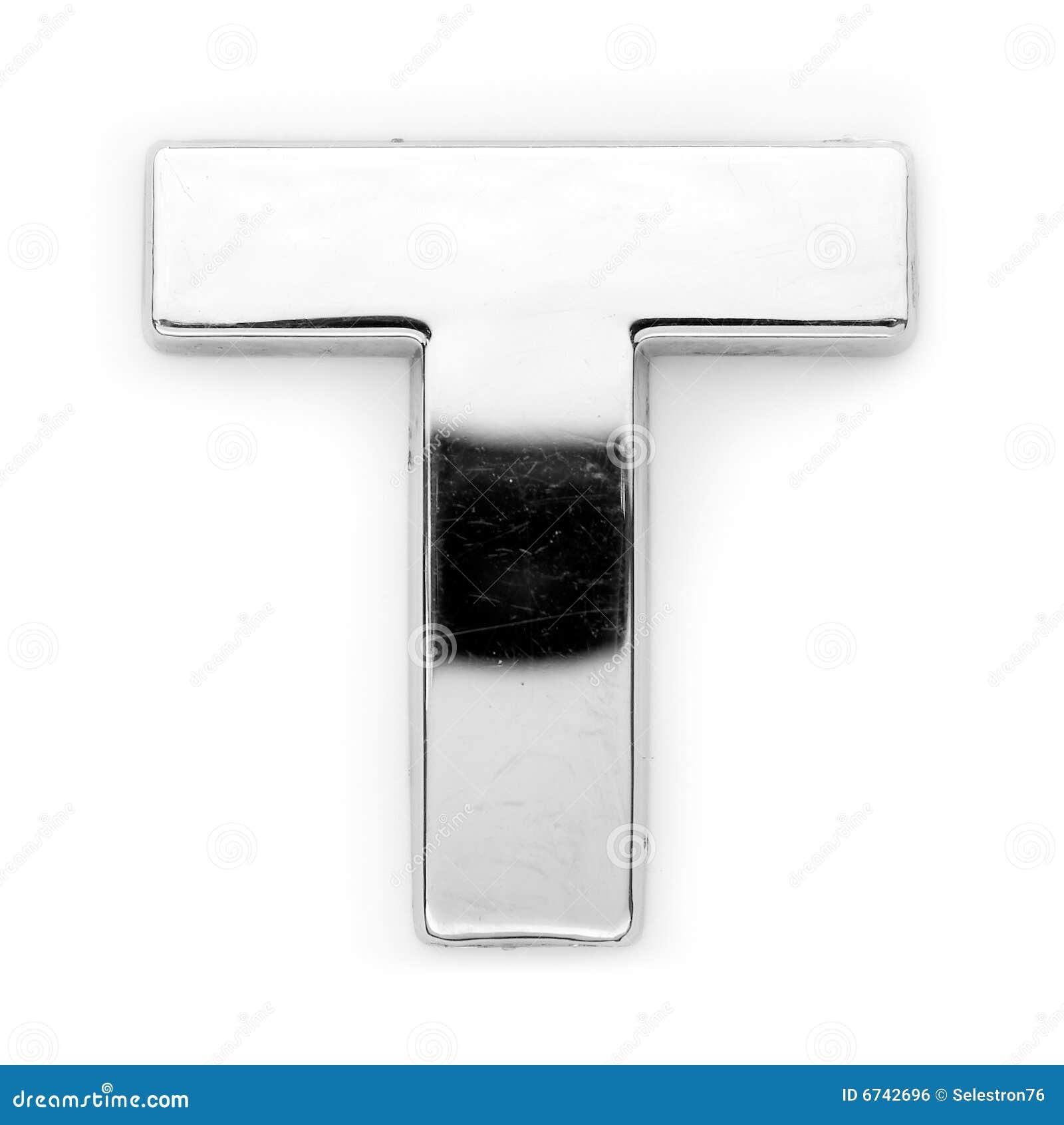 Metal Letter T T  Metal Letter Stock Photoimage Of Aluminum Nickel  6742696