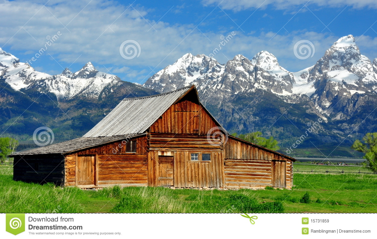 T A Moulton Barn And The Grand Tetons Royalty Free Stock