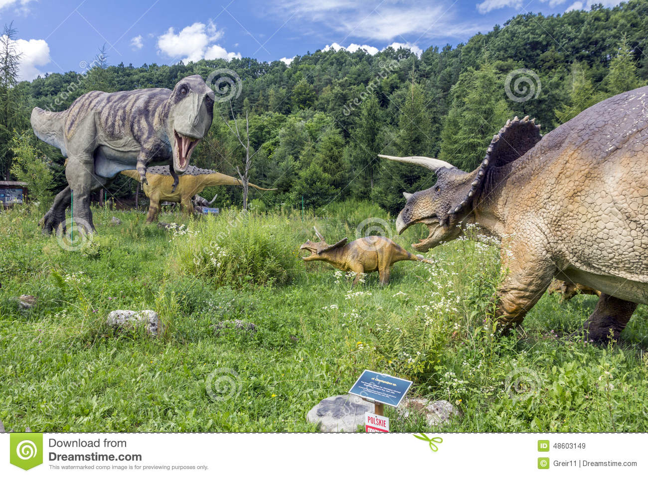 T rex vs triceratops family editorial stock image image for T rex family