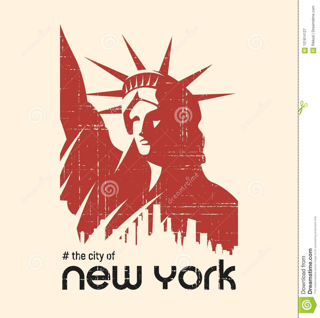 0140e306 T-shirt And Apparel Vector Design With The Statue Of Liberty And ...