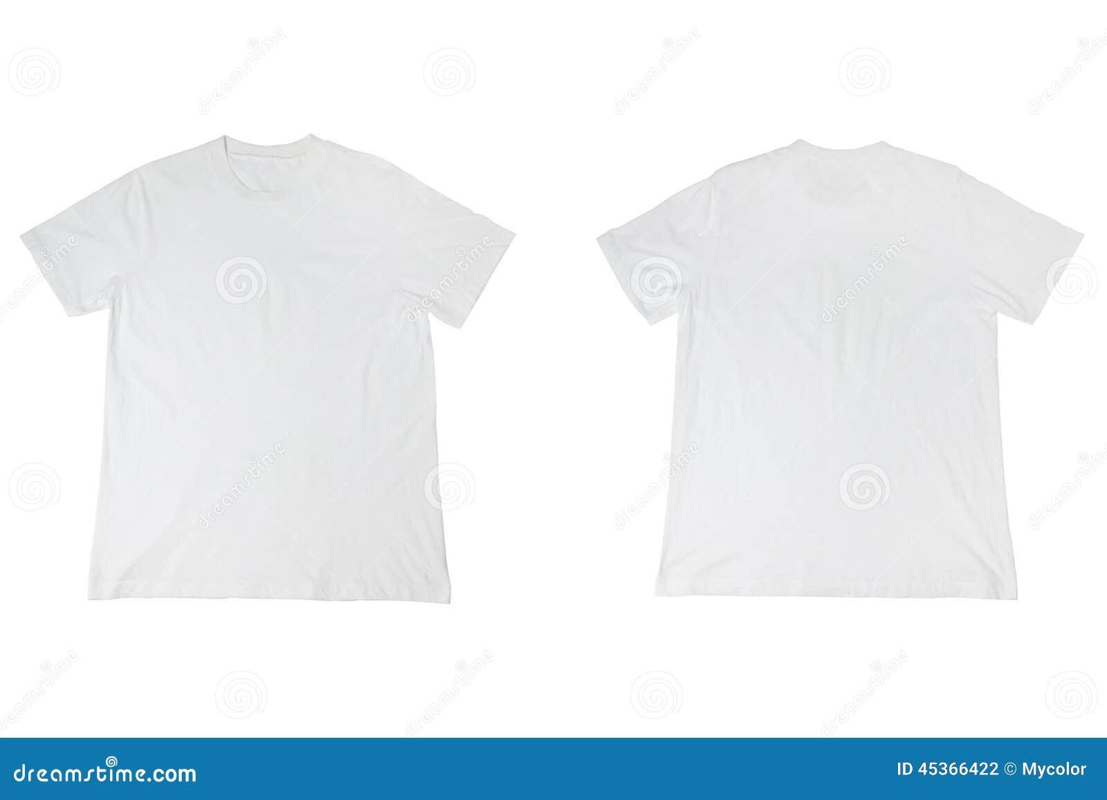 T-shirt blanc d isolement sur le blanc
