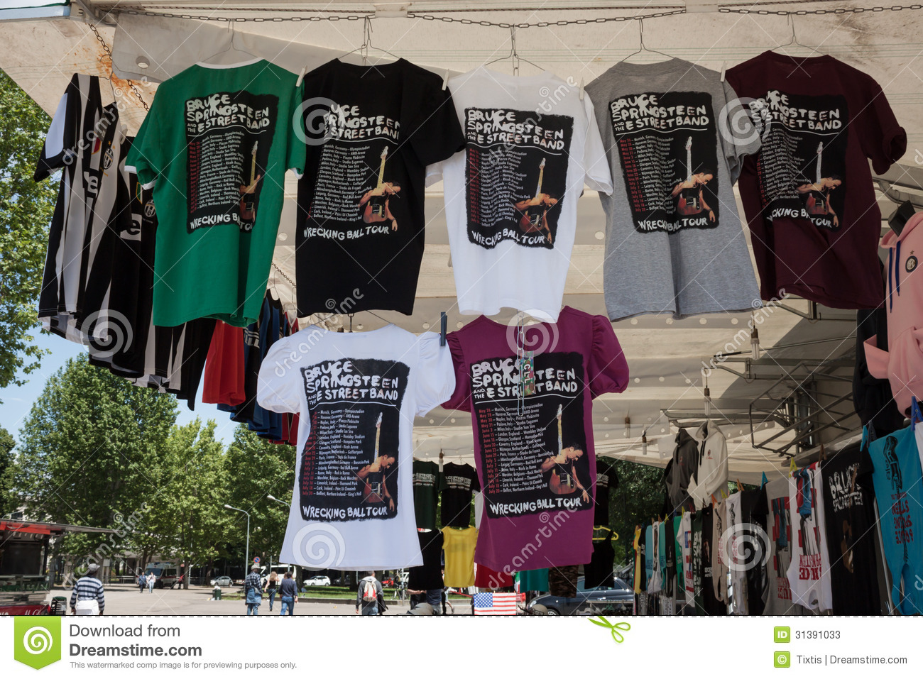 T-shirt da excursão 2013 do mundo de Springsteen