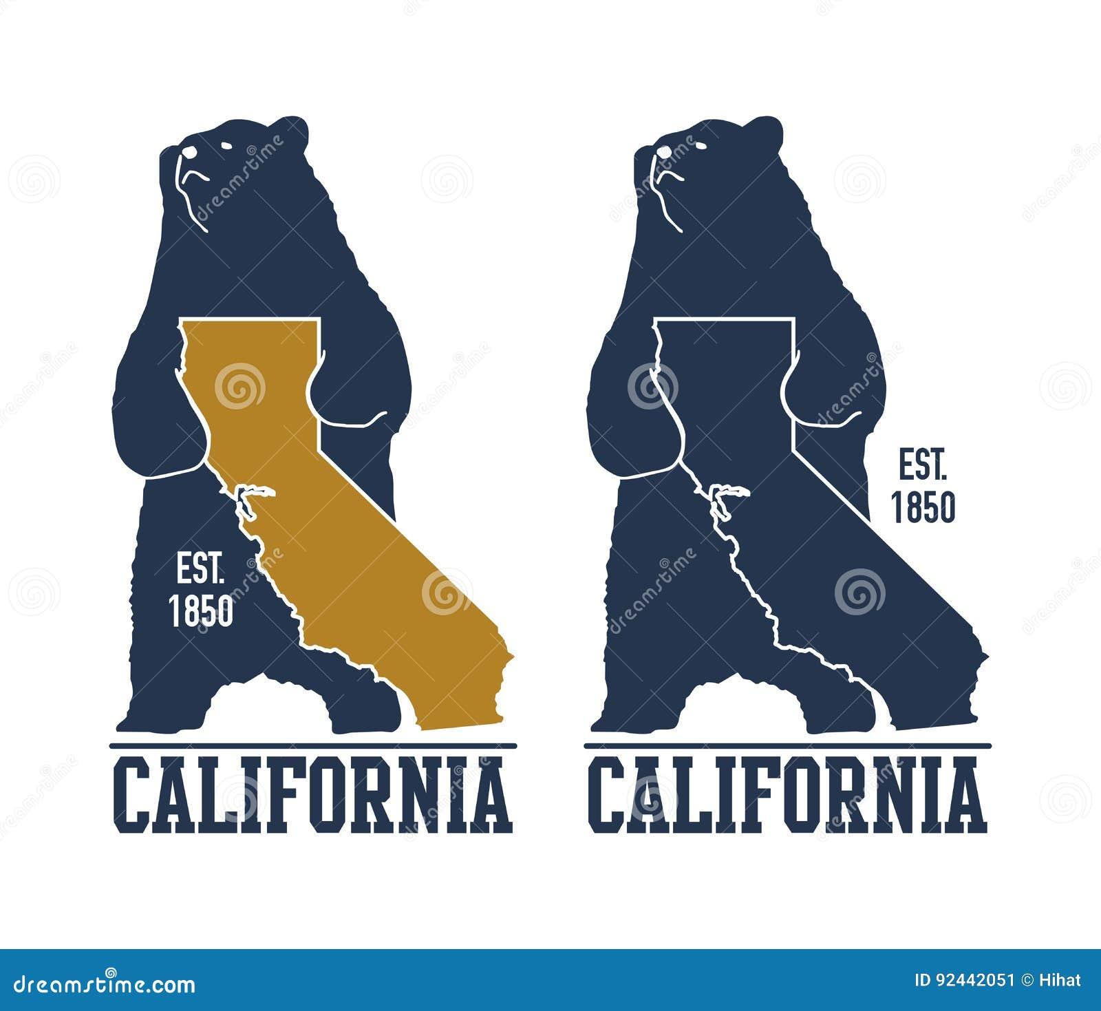 T-shirt de Califórnia com urso pardo