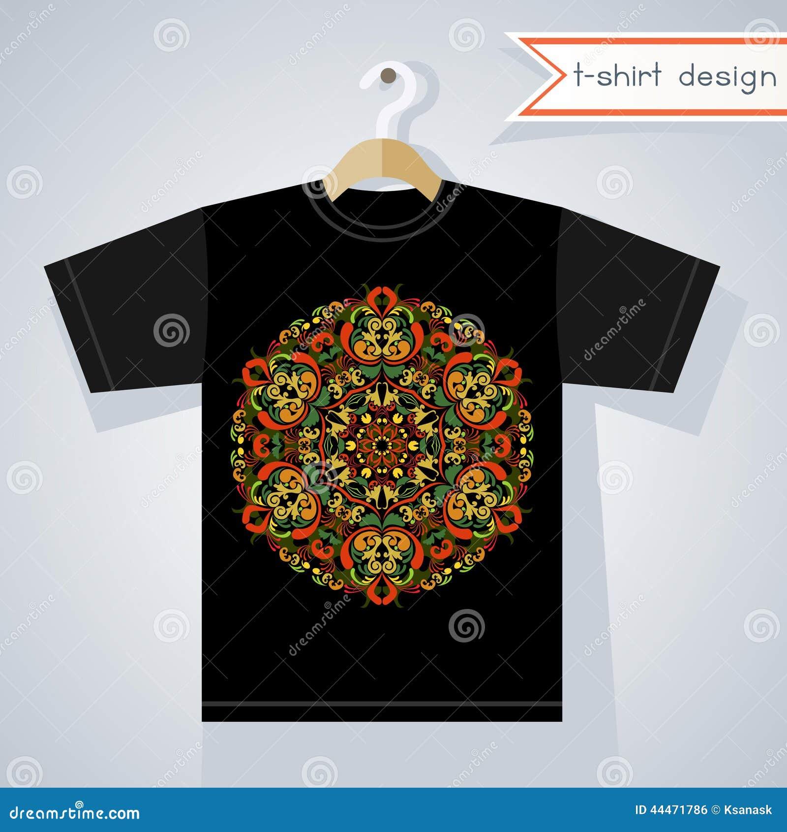 Black t shirt designs - Abstract Black Bright Clothing Design