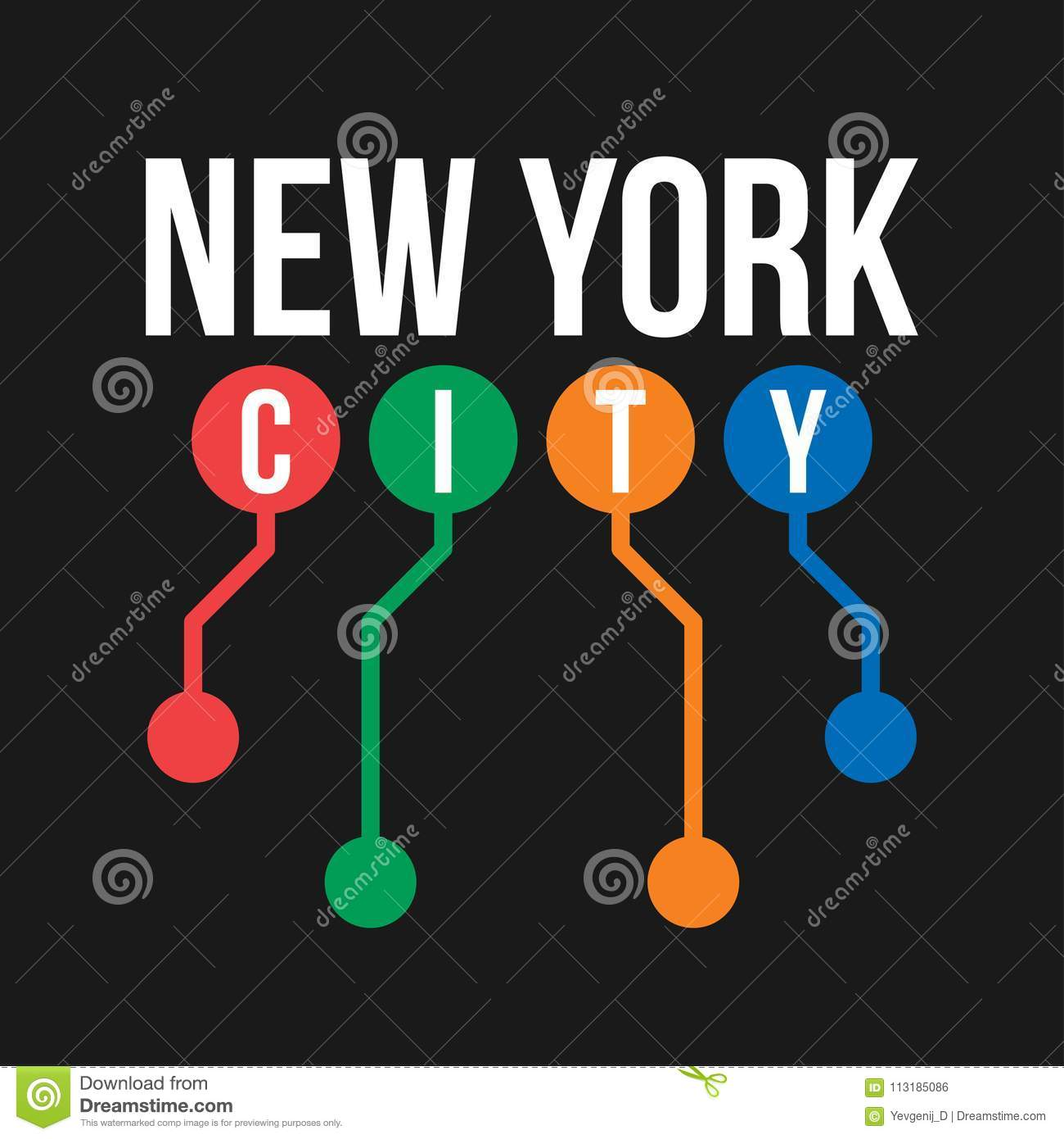 Ny Subway Map Background.T Shirt Design In The Concept Of New York City Subway Cool
