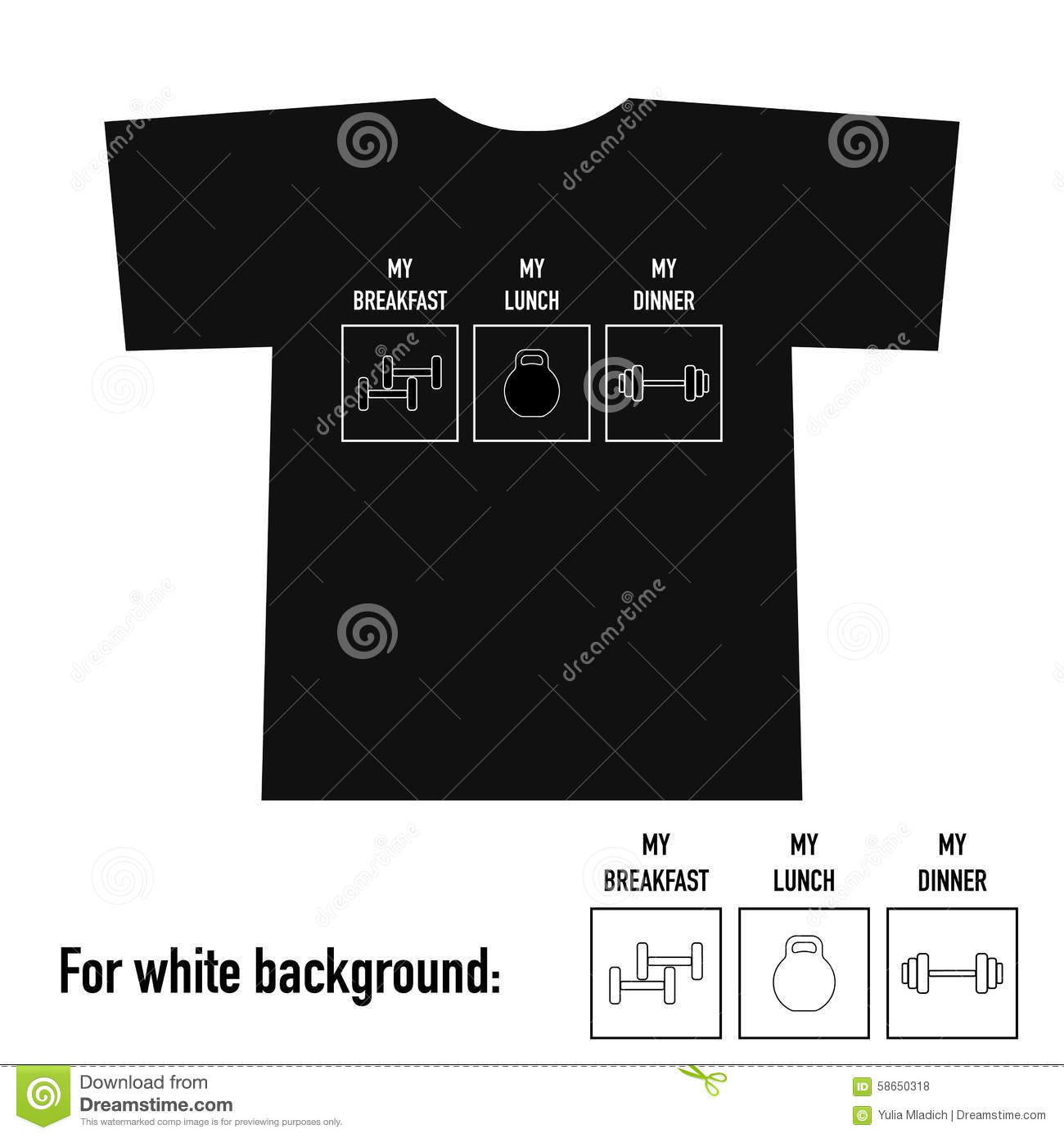 Shirt design equipment - T Shirt Design With Gym Equipment And Text