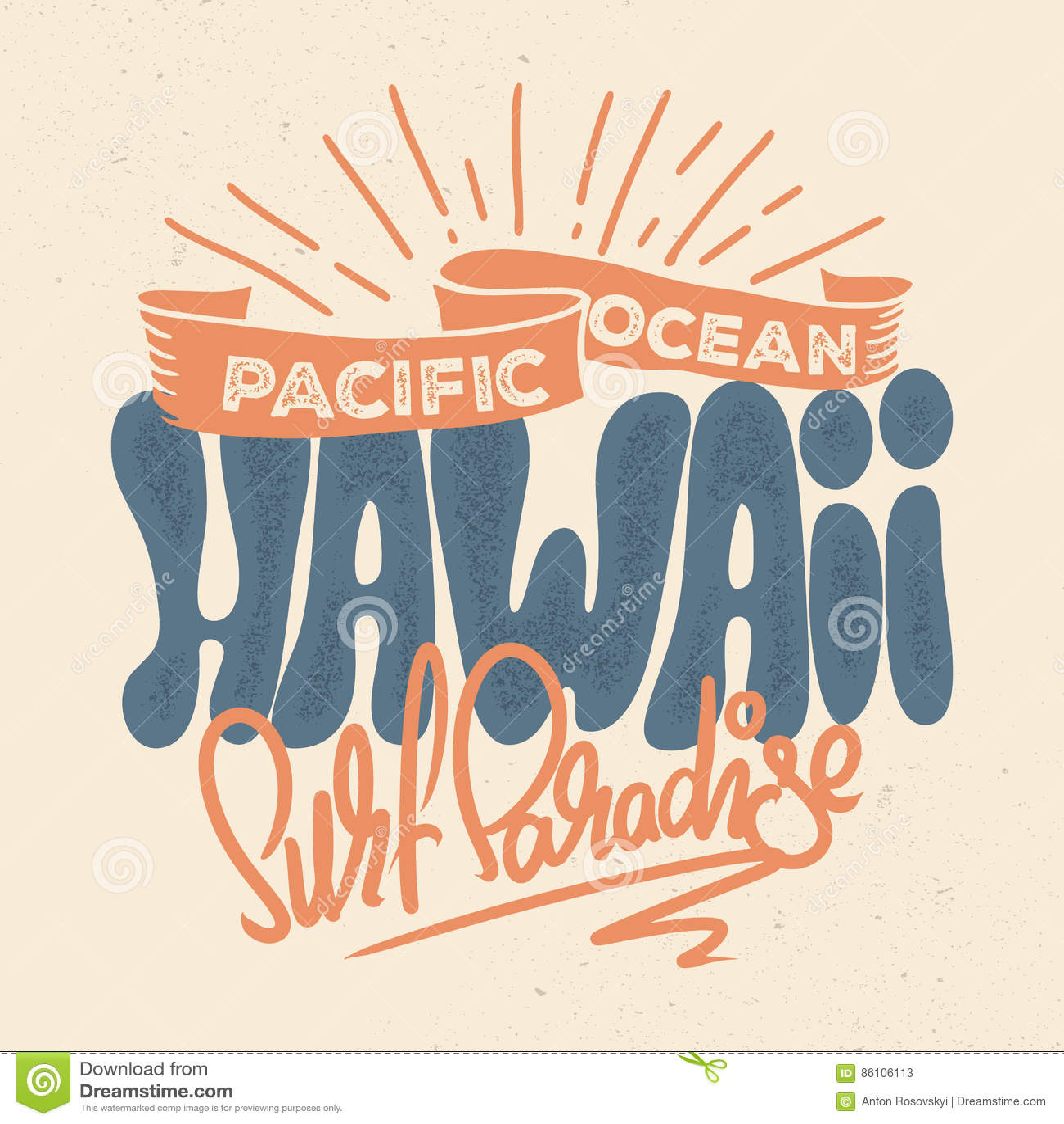 T shirt design hawaii - T Shirt Design Of Hawaii In Retro Style