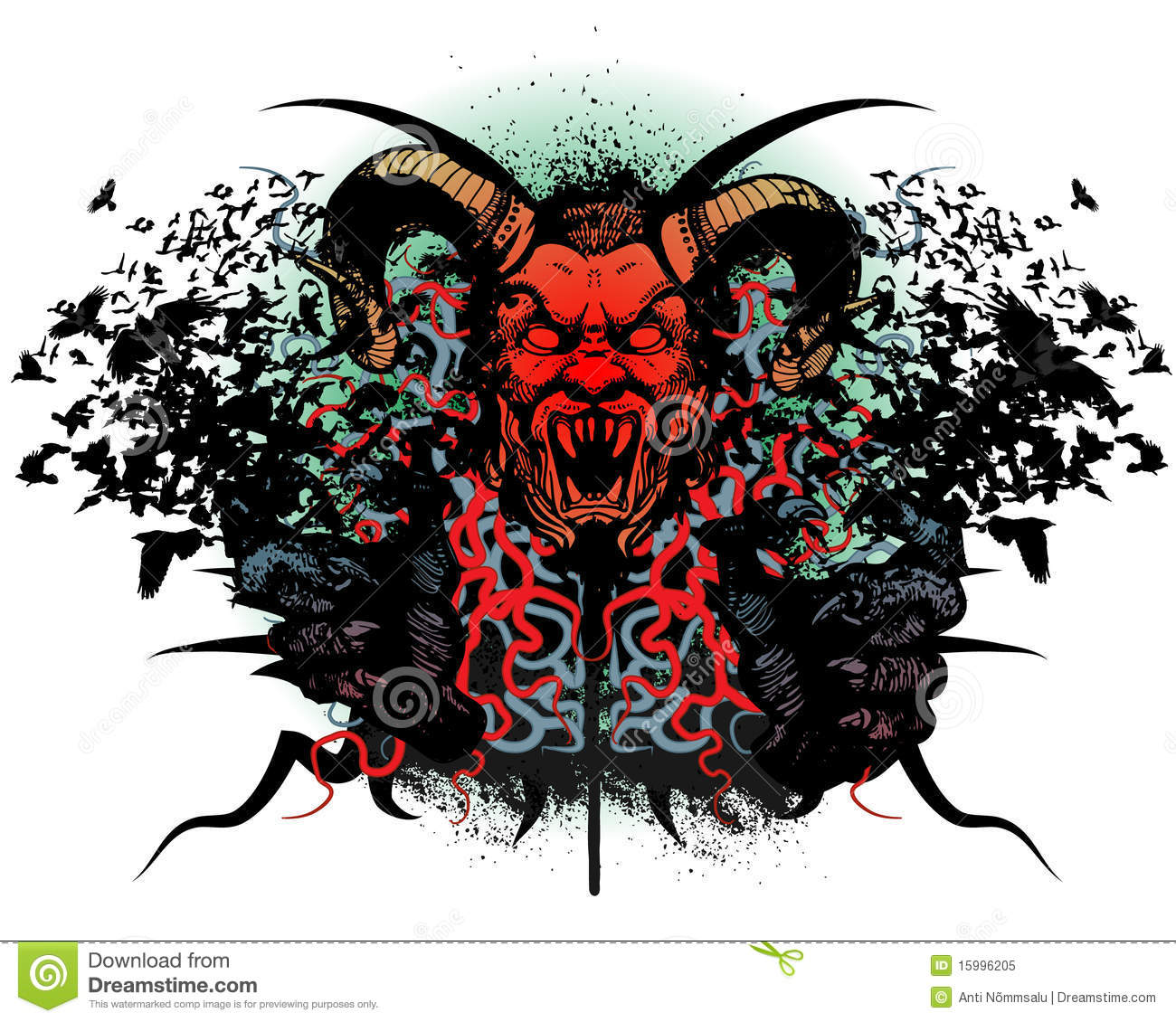 Design t shirt free - T Shirt Design With Monster Head Royalty Free Stock Photo